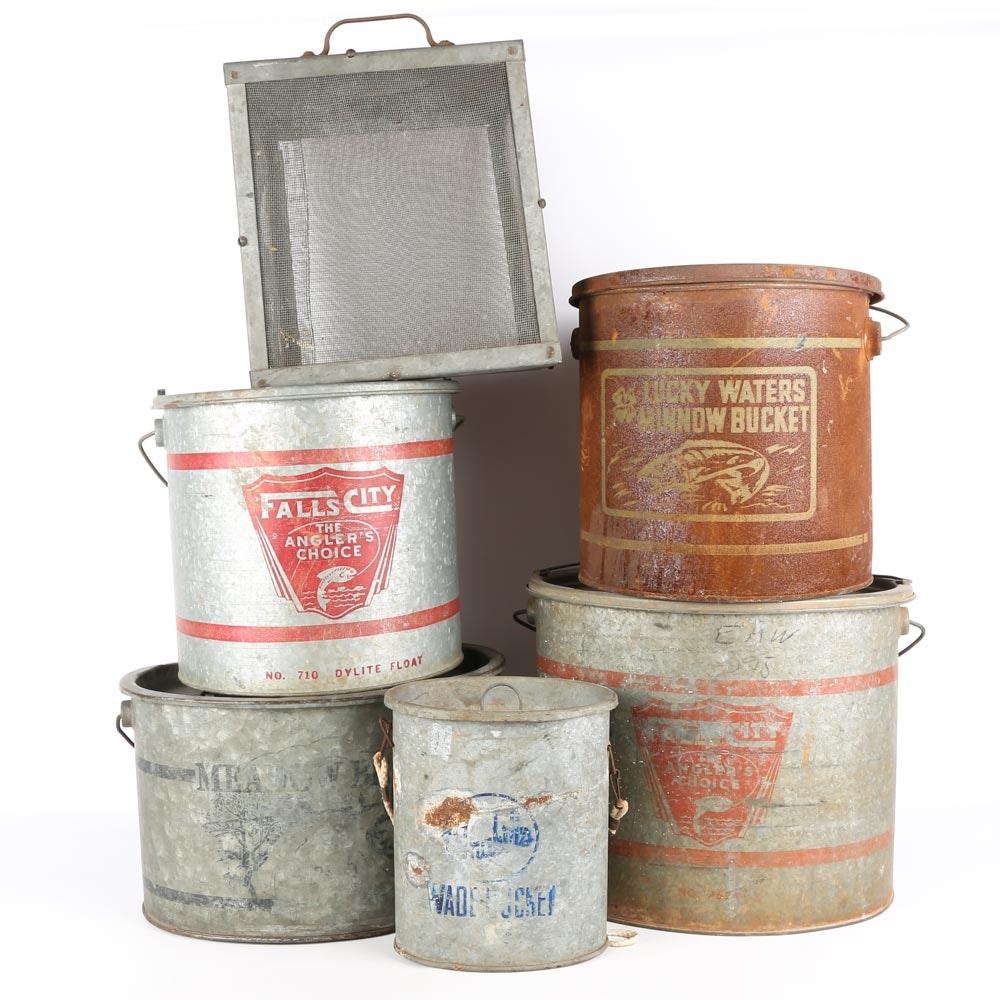 Vintage Minnow Buckets
