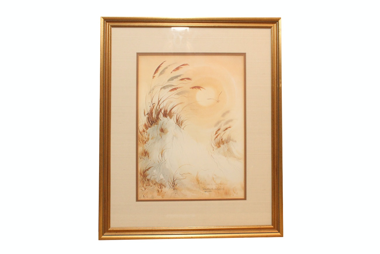 "Richard E. Williams Limited Edition Offset Lithograph ""Dunes Under The Sun"""