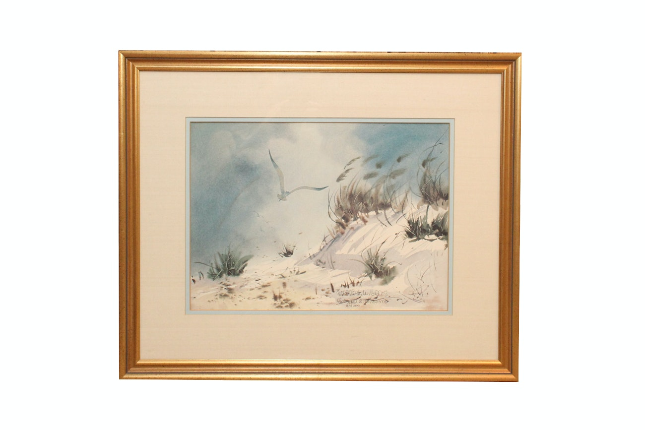 """Richard E. Williams Limited Edition Lithograph """"Over The Dunes"""""""
