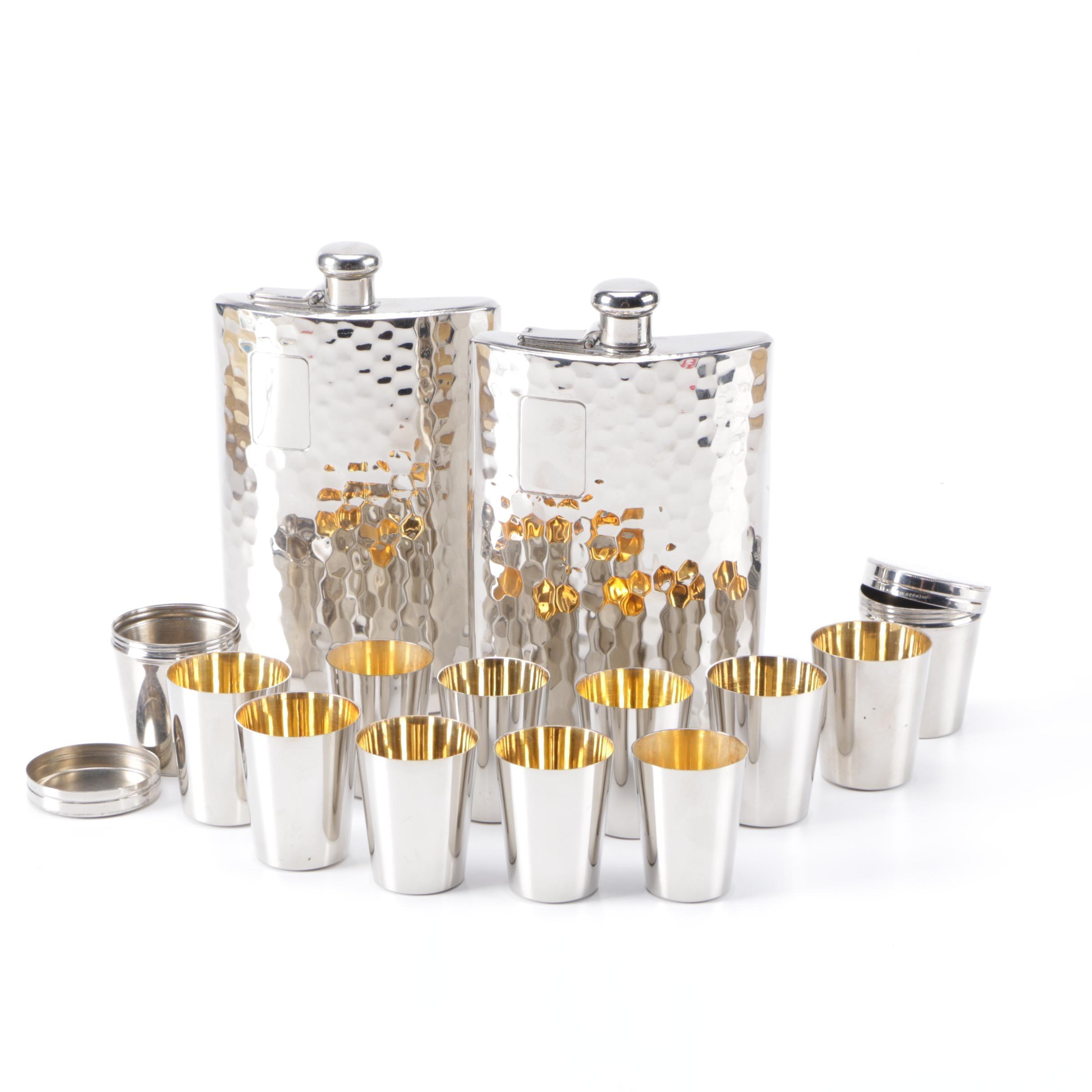German Flasks and Shot Glasses