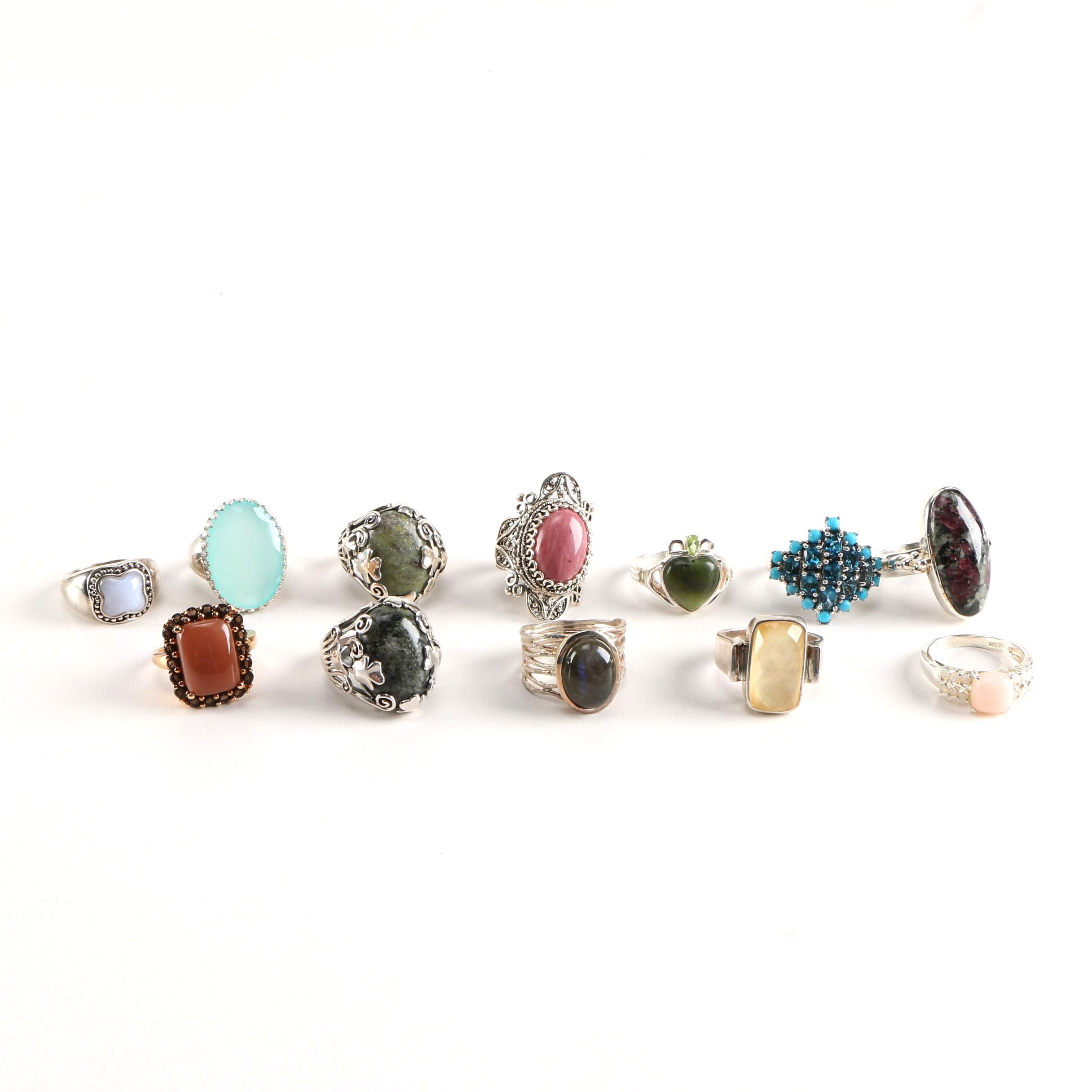 Sterling Silver Rings With Various Gemstones Featuring Whitney Kelly