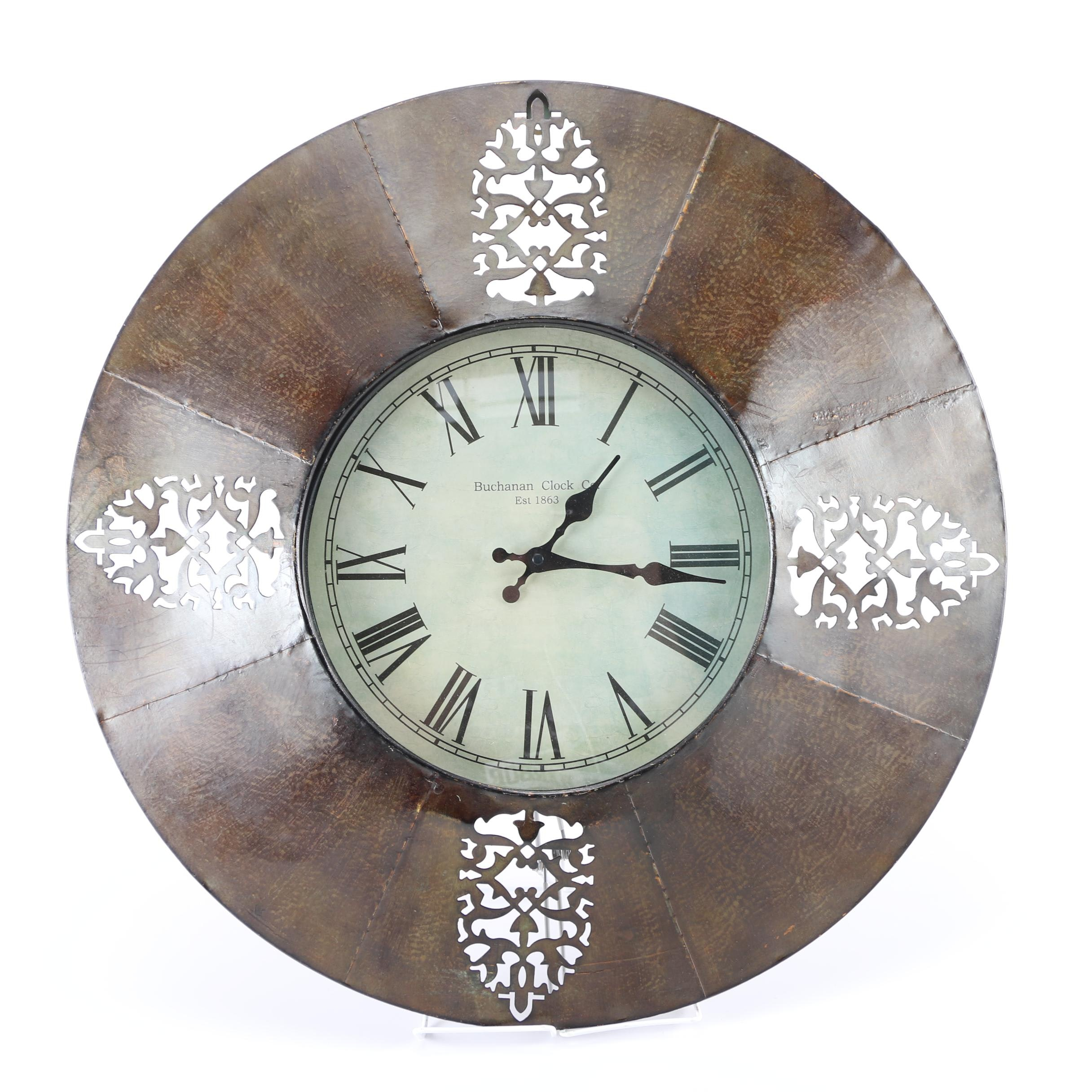 Buchanan Metal Wall Clock