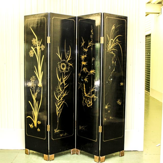 Chinese Style Reversible Folding Screen