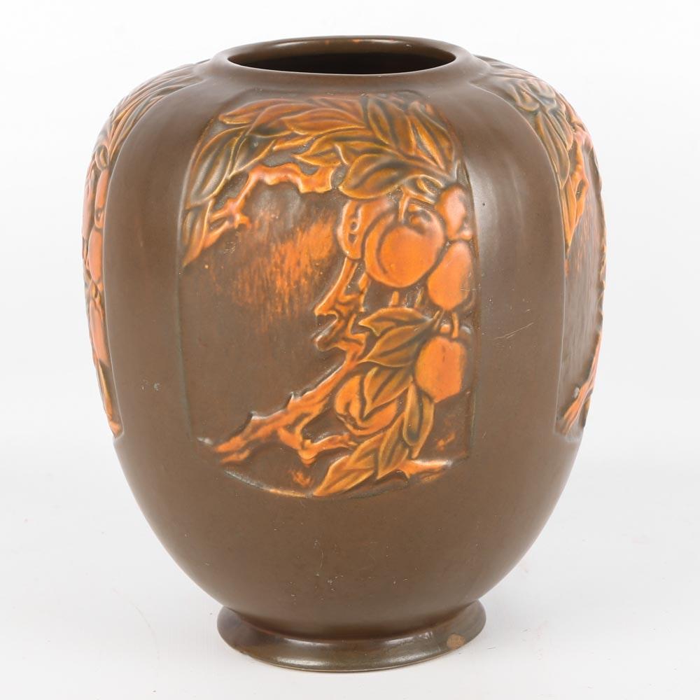 """Vintage Roseville """"Rosecraft Panel"""" Art Deco Vase"""