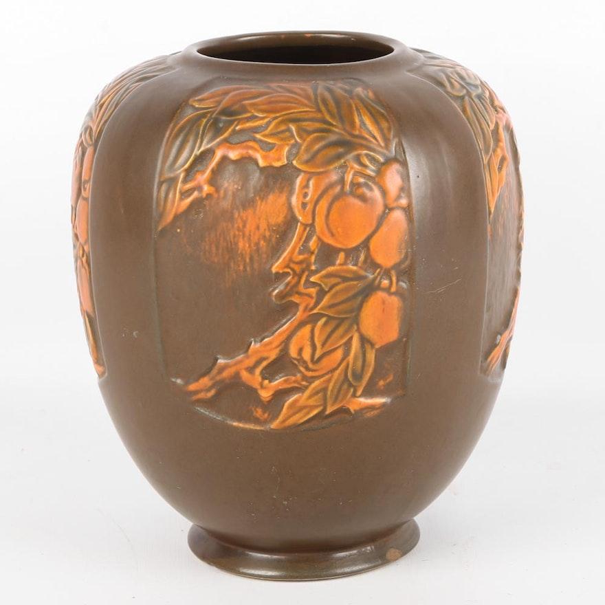 Vintage Roseville Rosecraft Panel Art Deco Vase Ebth