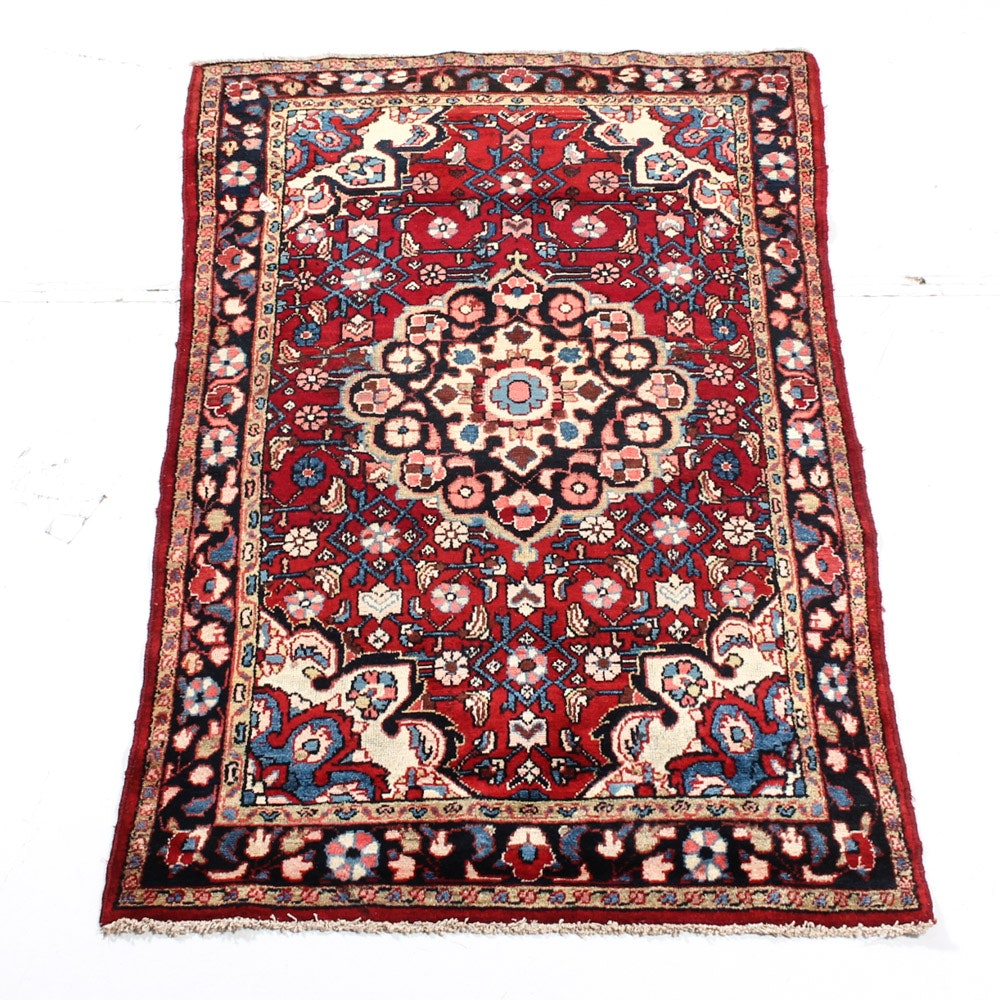 Hand Knotted Persian Malayer Sarouk Area Rug