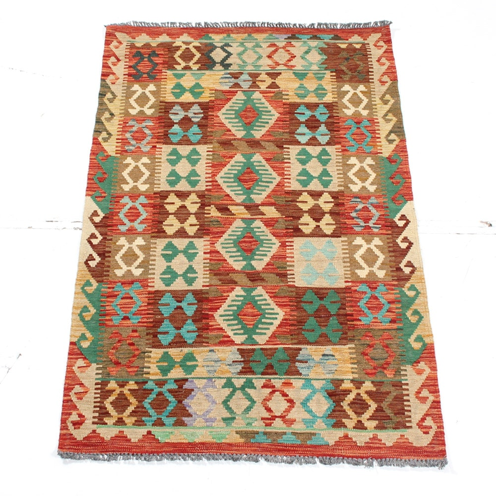 Hand Woven Turkish Kilim Area Rug