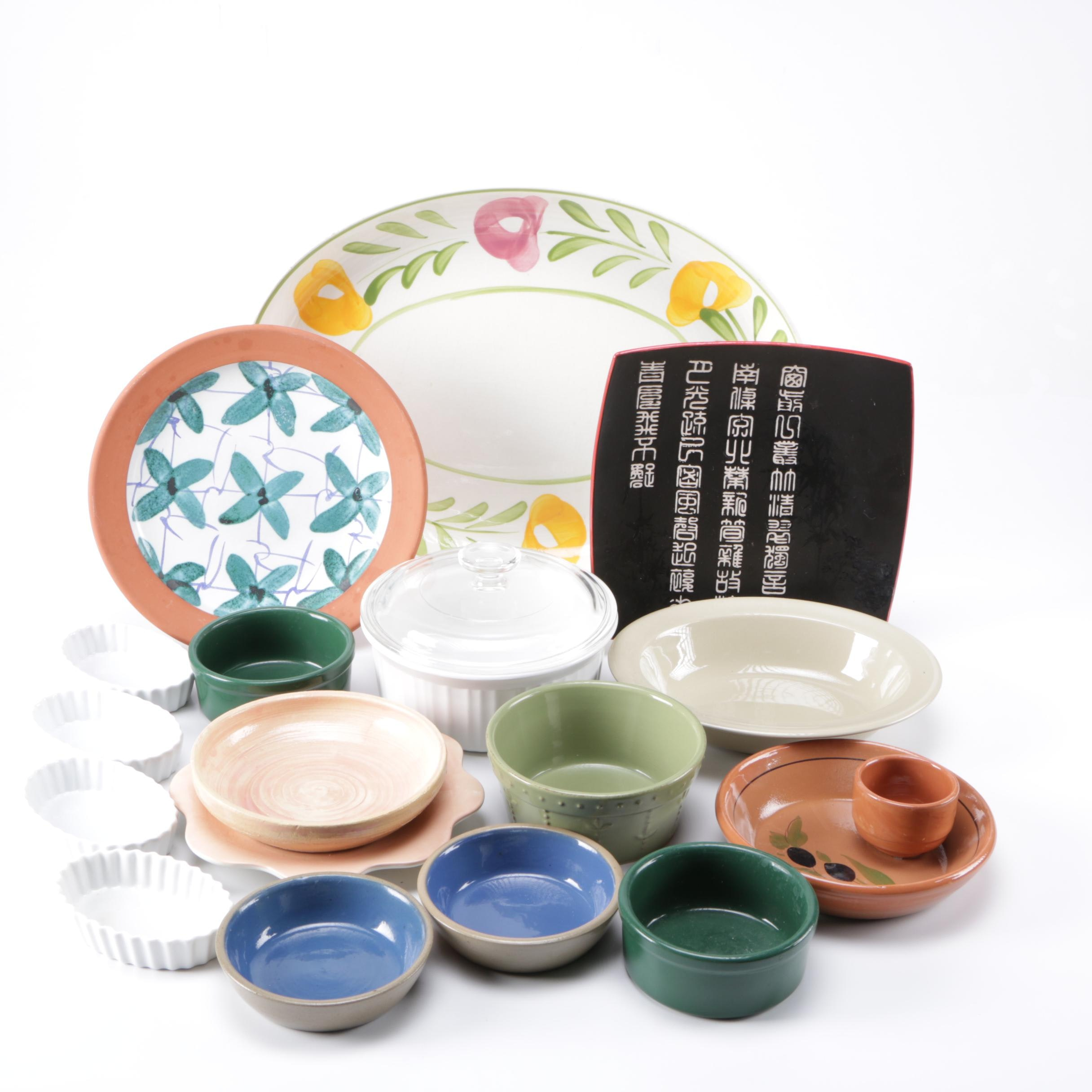 Assortment of Kitchenware Featuring Crate & Barrel