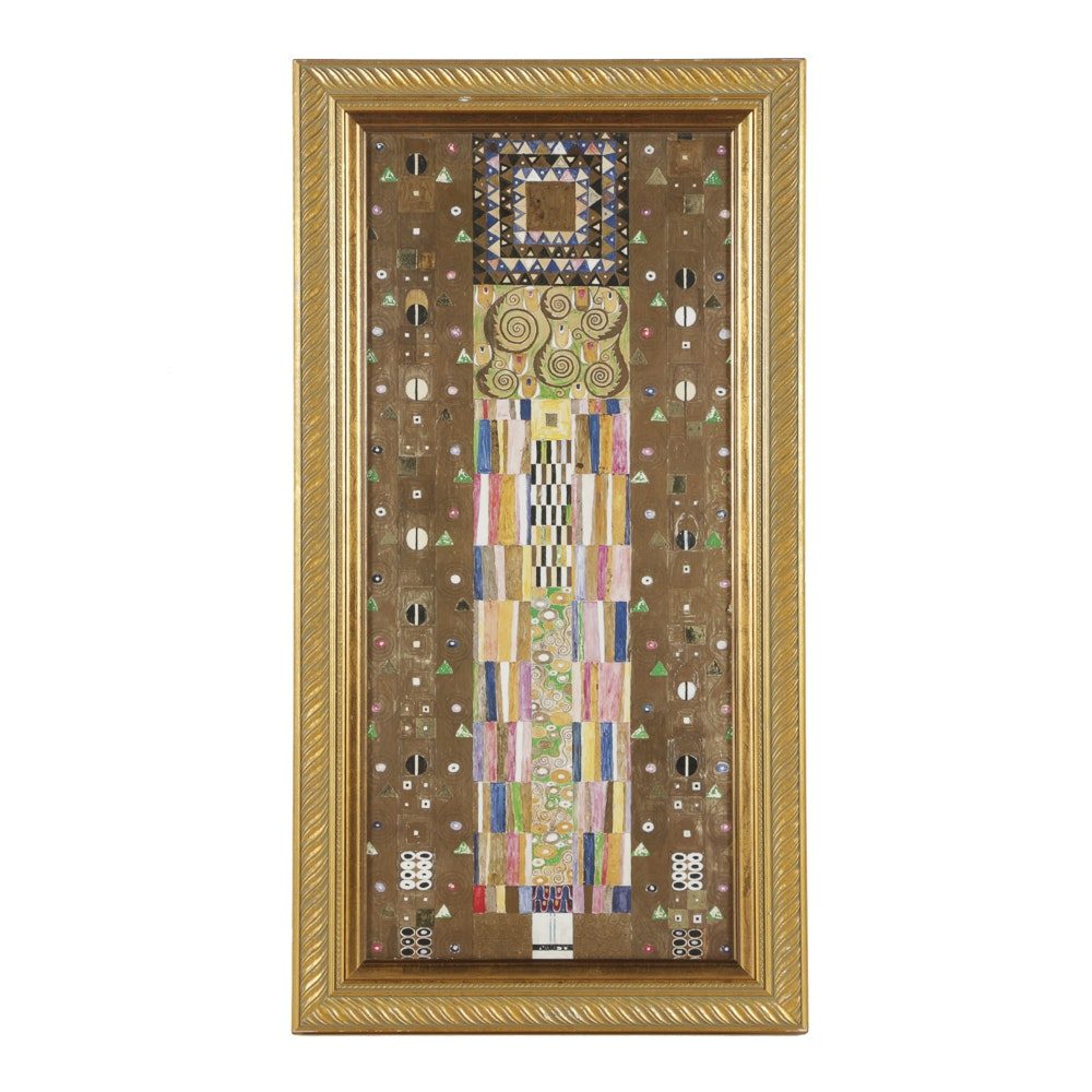 "After Gustav Klimt Offset Lithograph ""Knight"""