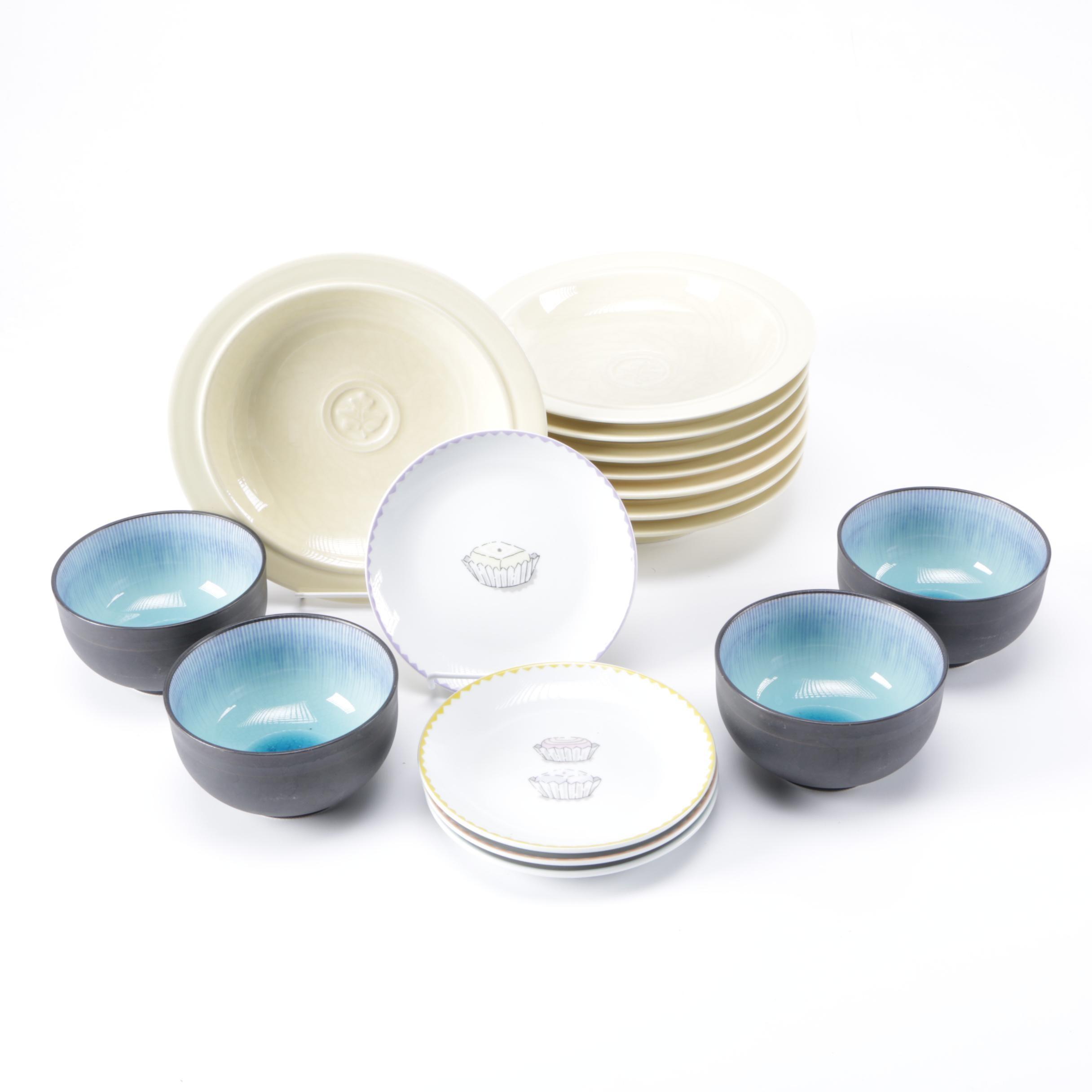 Selection of Ceramic Tableware Including Dansk Plates