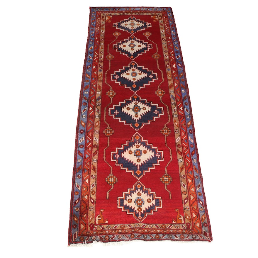 Hand Knotted Indo Persian Obeetee Wool Area Rug Ebth: Hand-Knotted Persian Ardabil Area Rug