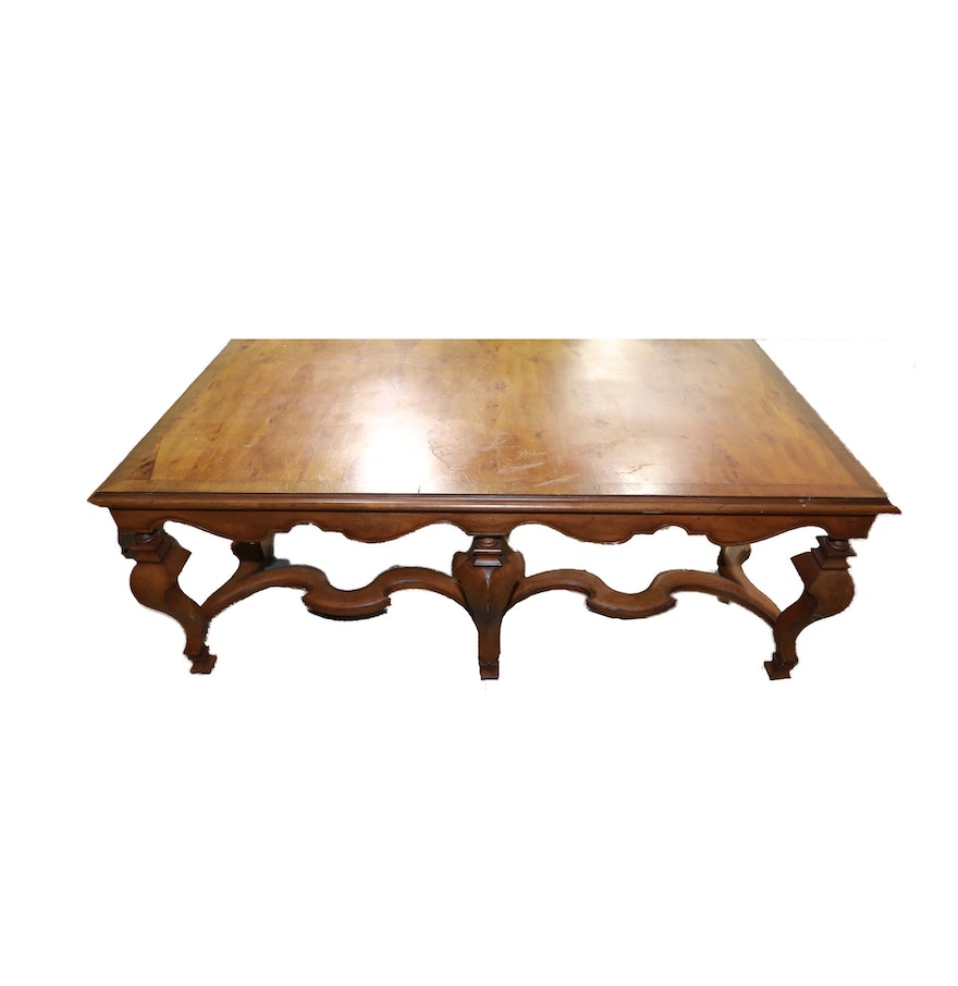 Vintage French Provincial Inspired Coffee Table By John Widdicomb Ebth