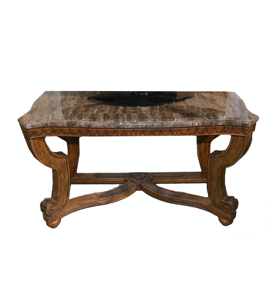 Ornate stone top console table ebth ornate stone top console table geotapseo Gallery