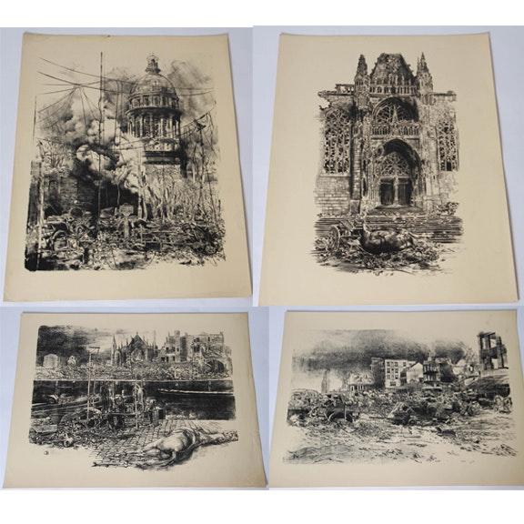 Offset Lithographs of World War II German Military Life