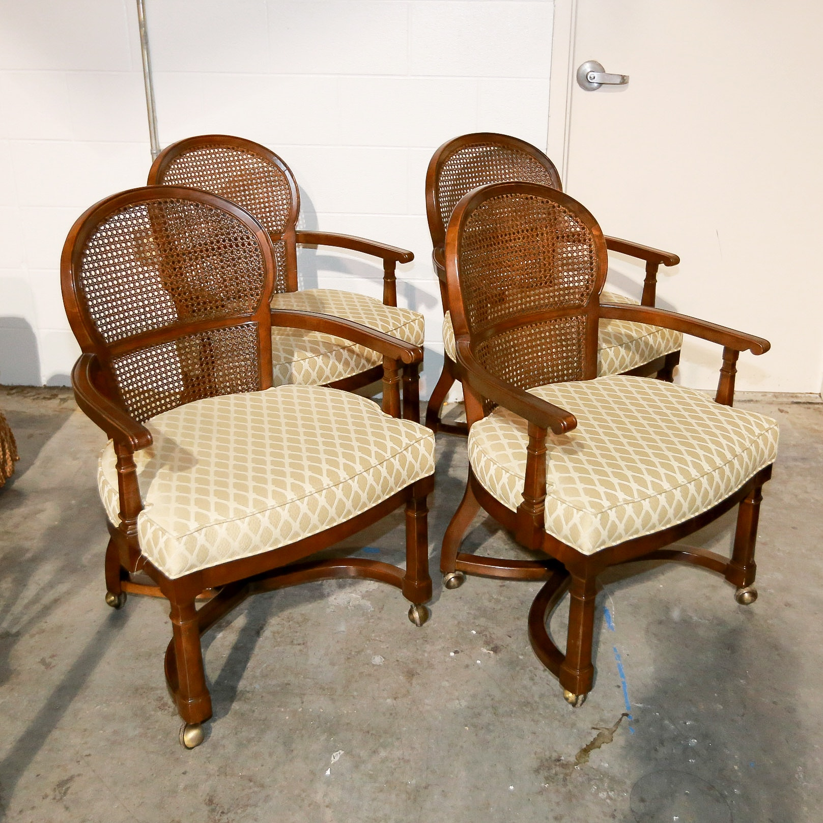Cane Back Armchairs by Century Furniture