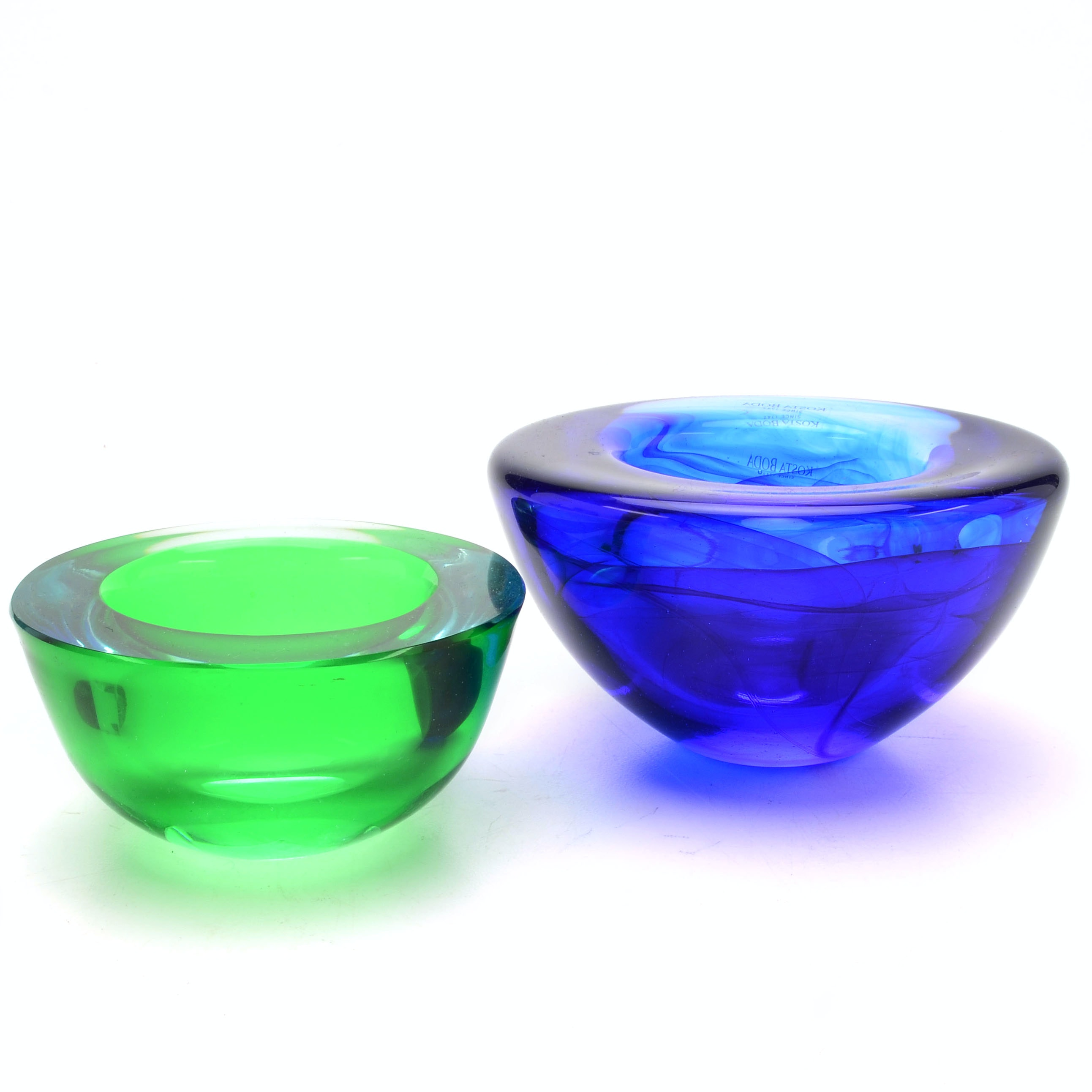 Two Art Glass Bowls, Including Kosta Boda