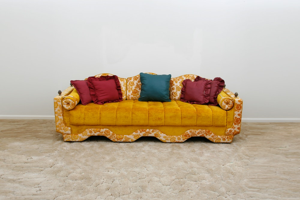 Vintage Gold and Floral Couch