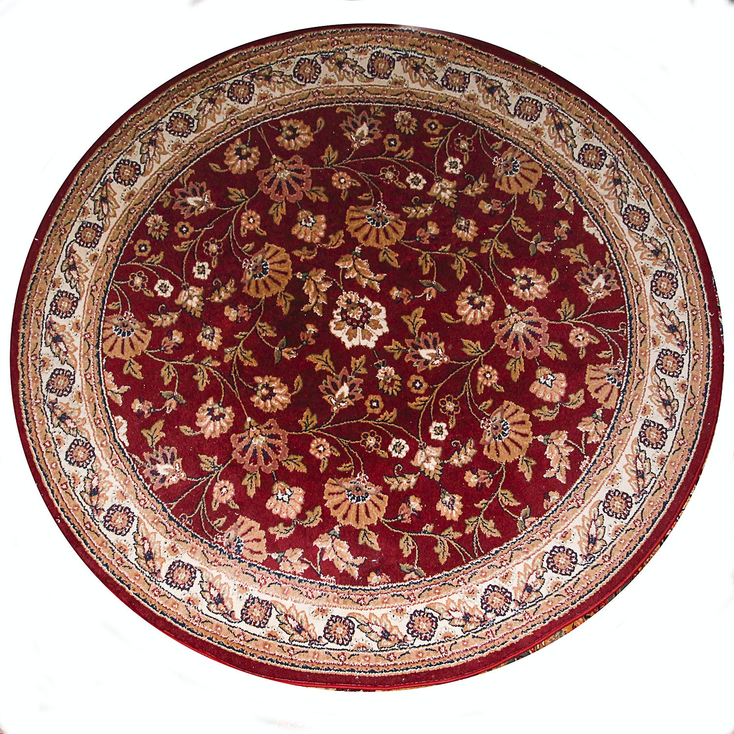 Power Loomed Persian-Style Round Rug