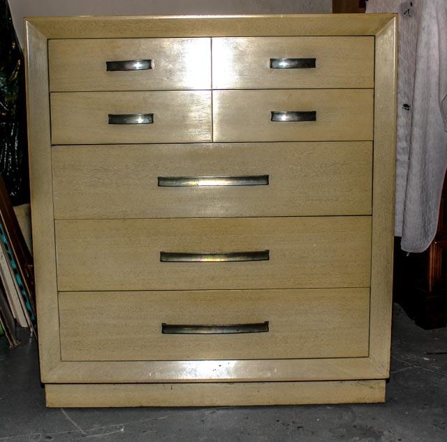 Mid Century Modern Blonde Highboy Dresser