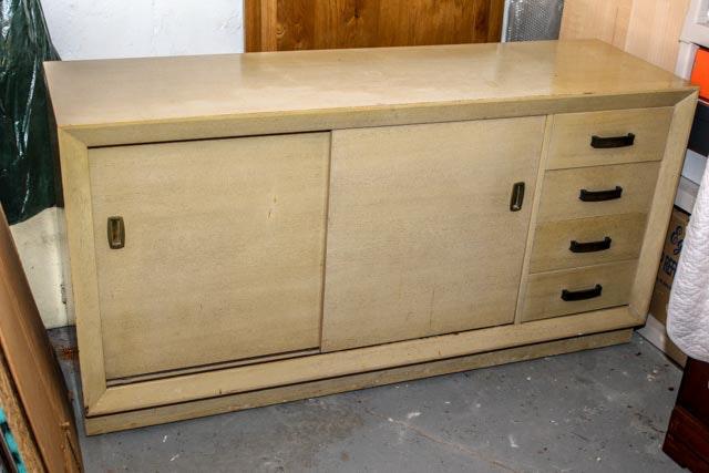 Mid Century Modern Blonde Dresser