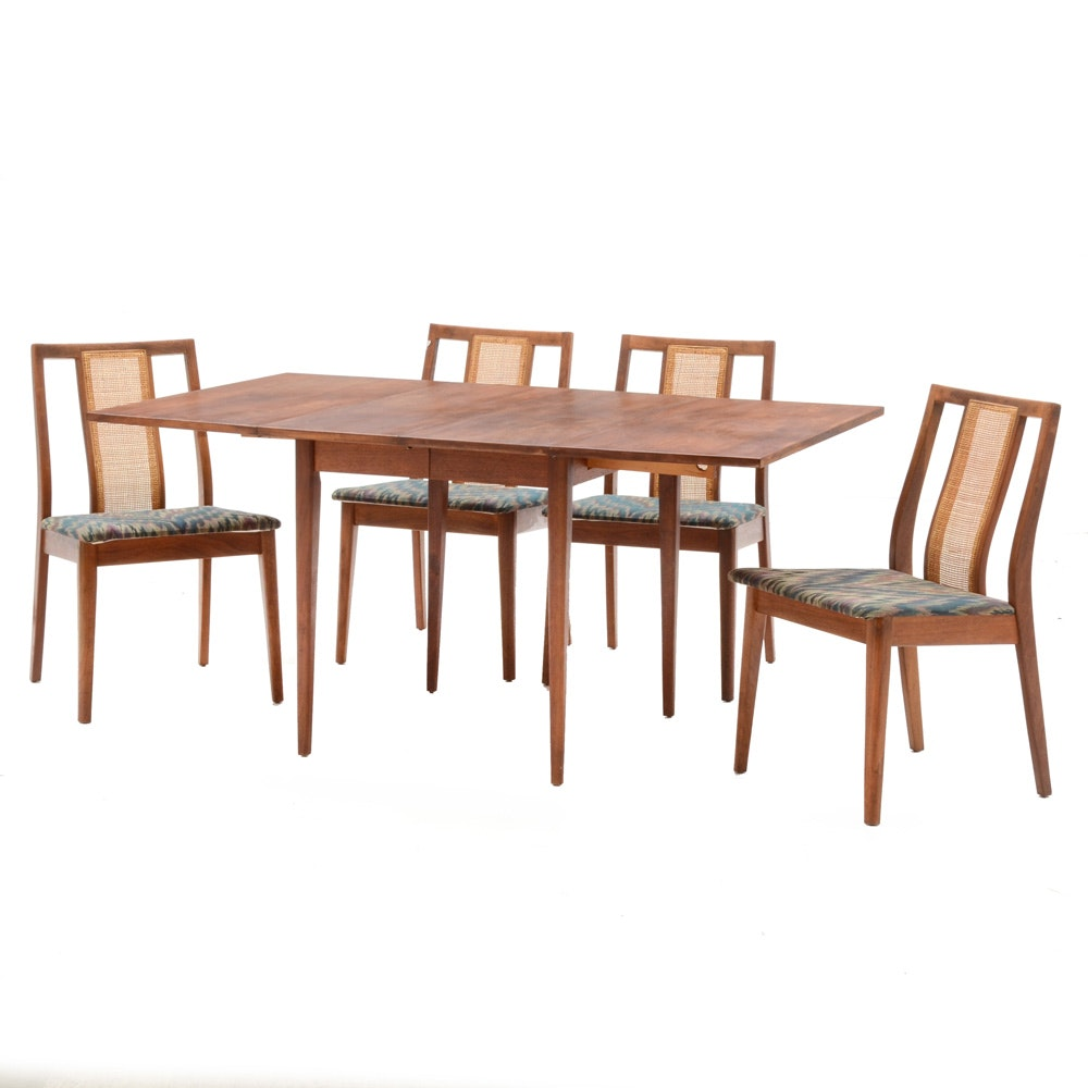 Mid Century Modern Drop Leaf Table with Chairs
