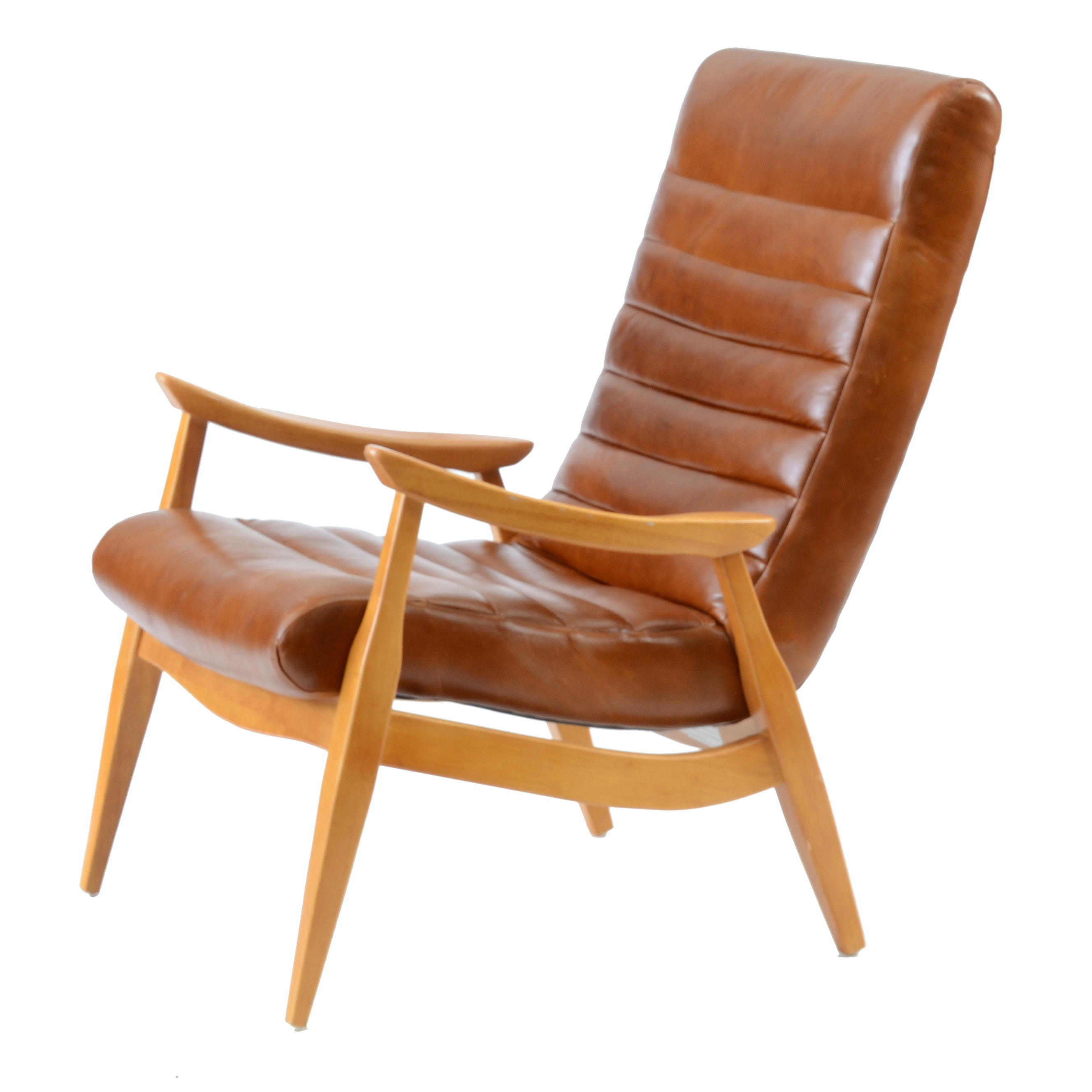 """Han"" Leather Lounge Chair by Klaussner"
