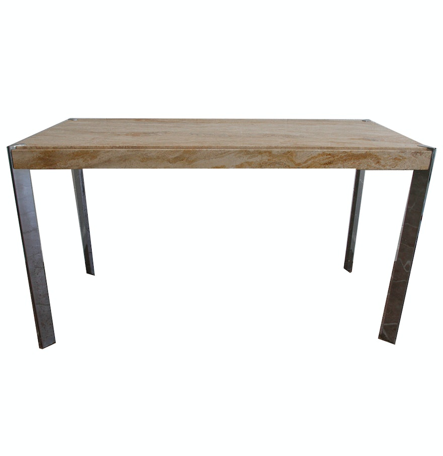 Stone top console table ebth stone top console table geotapseo Gallery