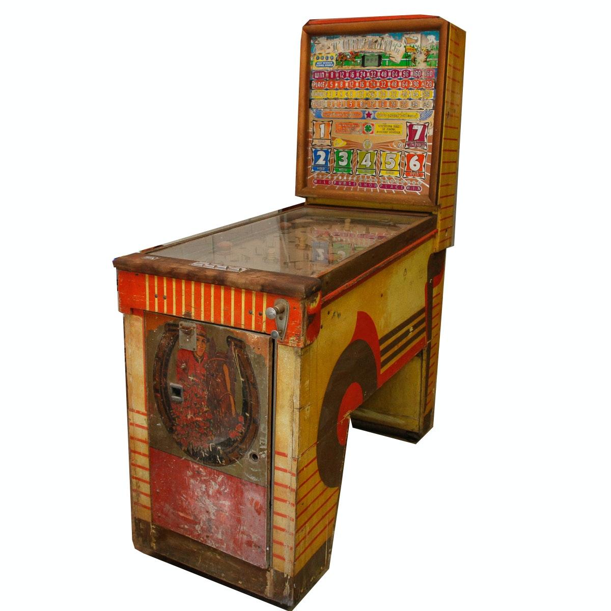 """1950 Bally """"Turf King"""" Bingo Pinball Machine"""