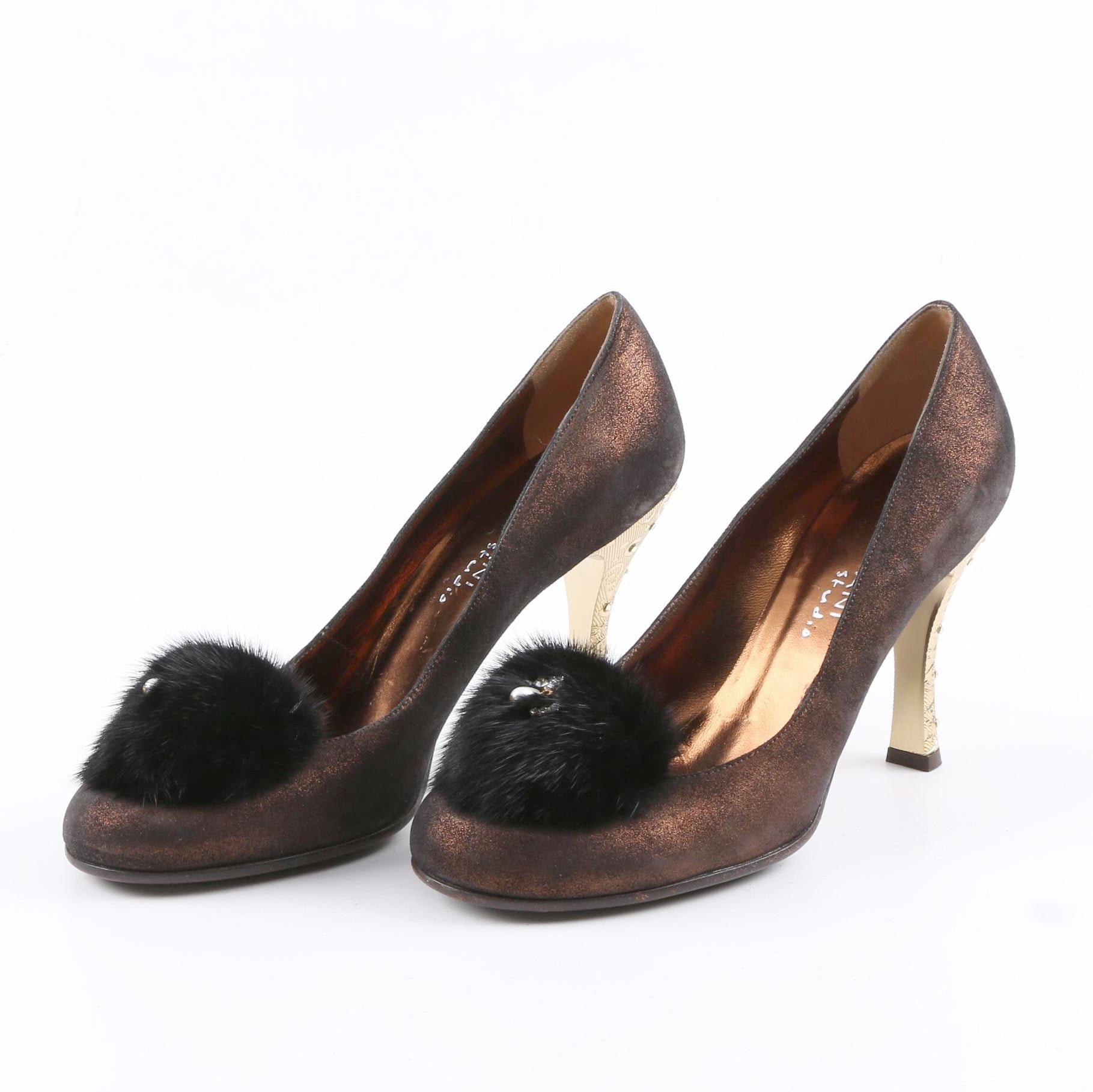 Mariani Studio Brown Leather Pumps