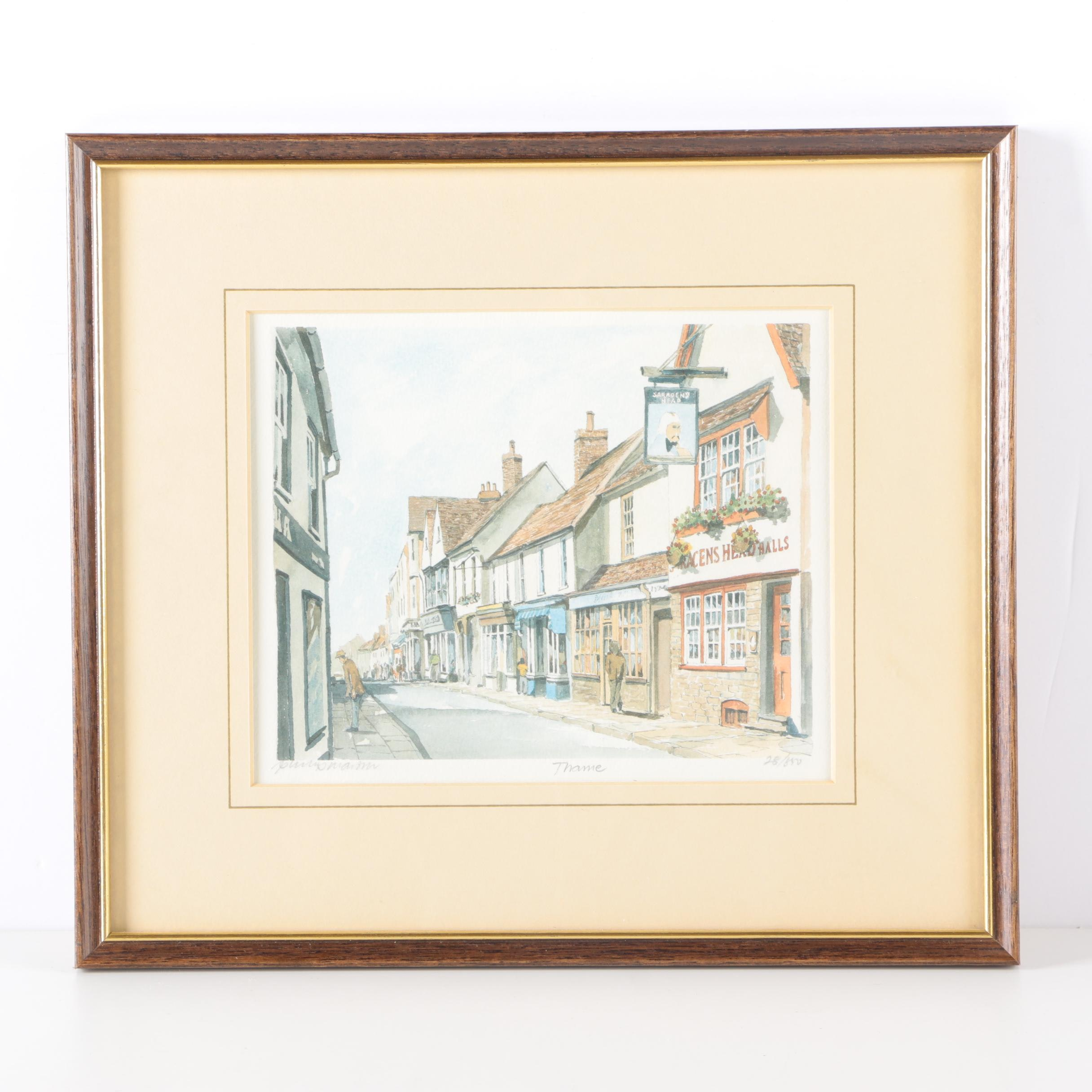 """After Philip Martin Limited Edition Offset Lithograph """"Thame"""""""
