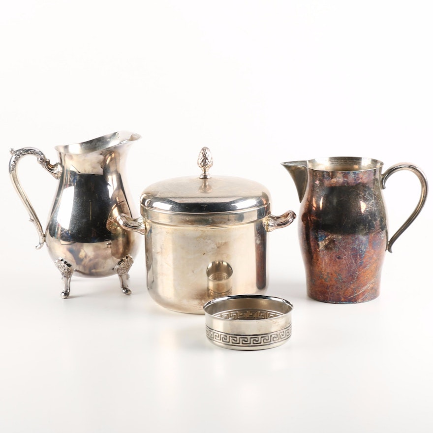 """Wm A Rogers Silver Plate Marks: Wm Rogers """"Paul Revere Reproduction"""" Silver Plate Water"""
