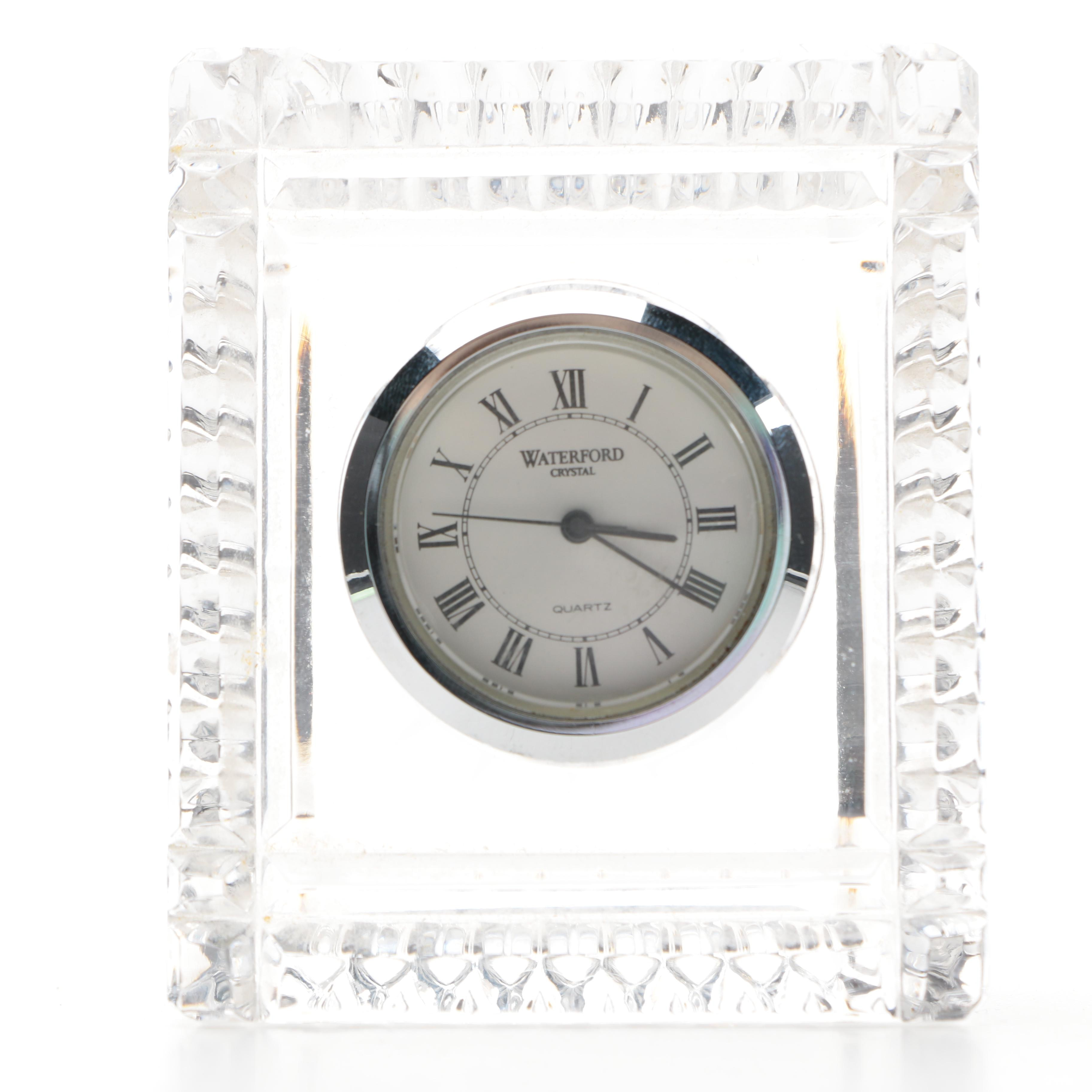 Small Crystal Waterford Clock