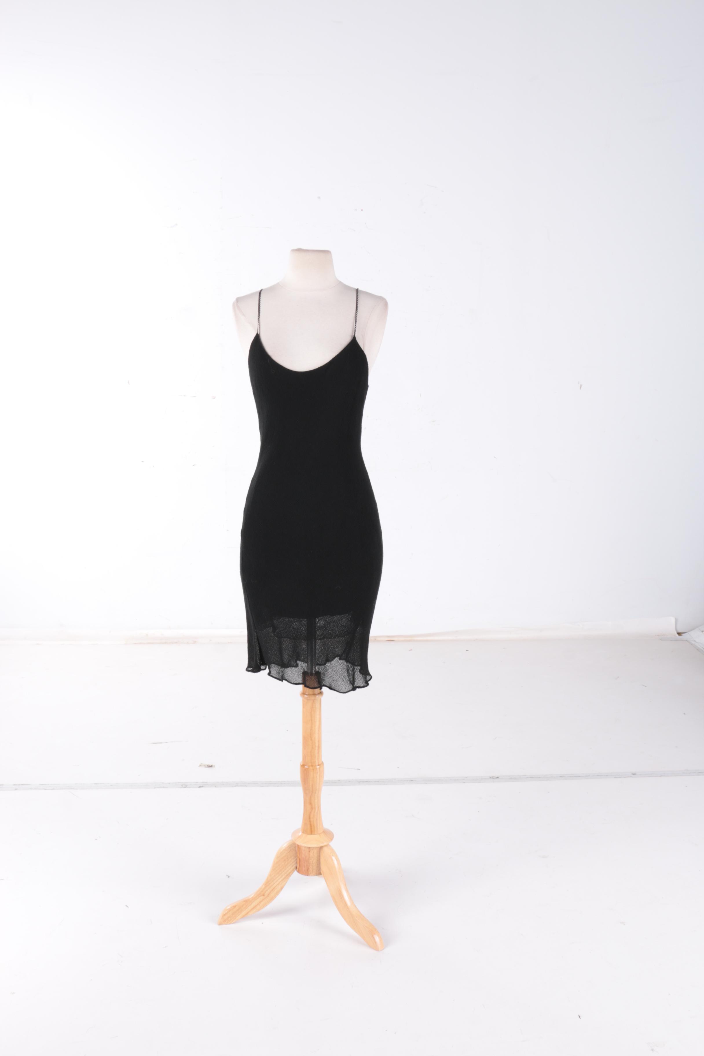 Victor Alfaro Black Cocktail Dress
