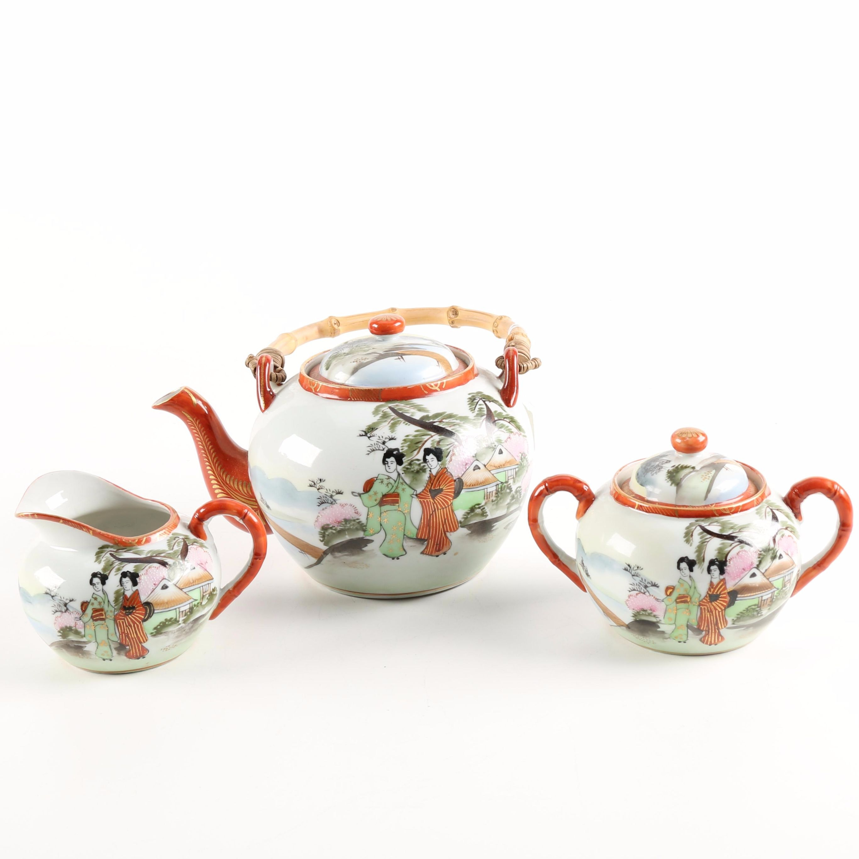 Hand Painted Japanese Porcelain Tea Set