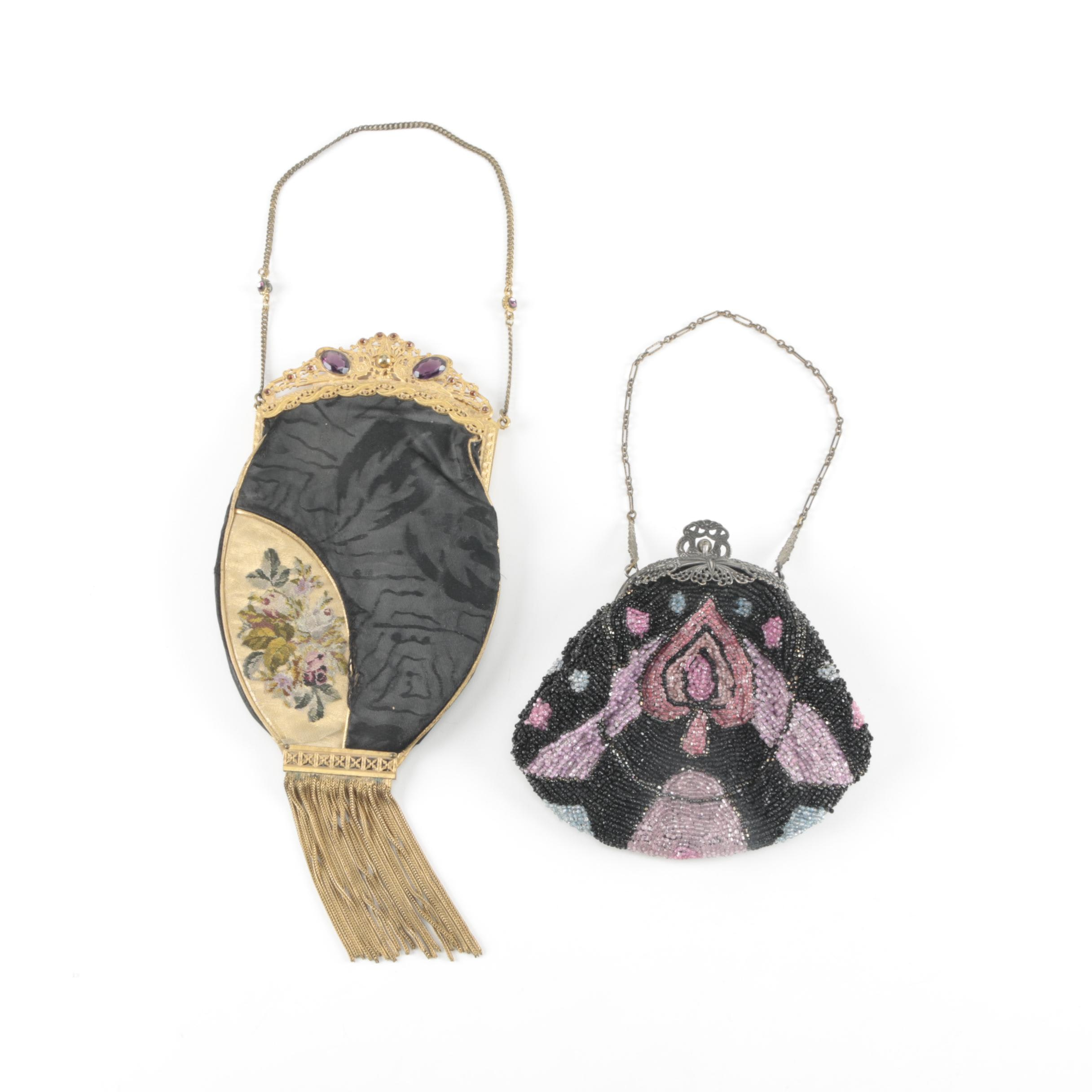 Vintage Beaded and Woven Evening Bags
