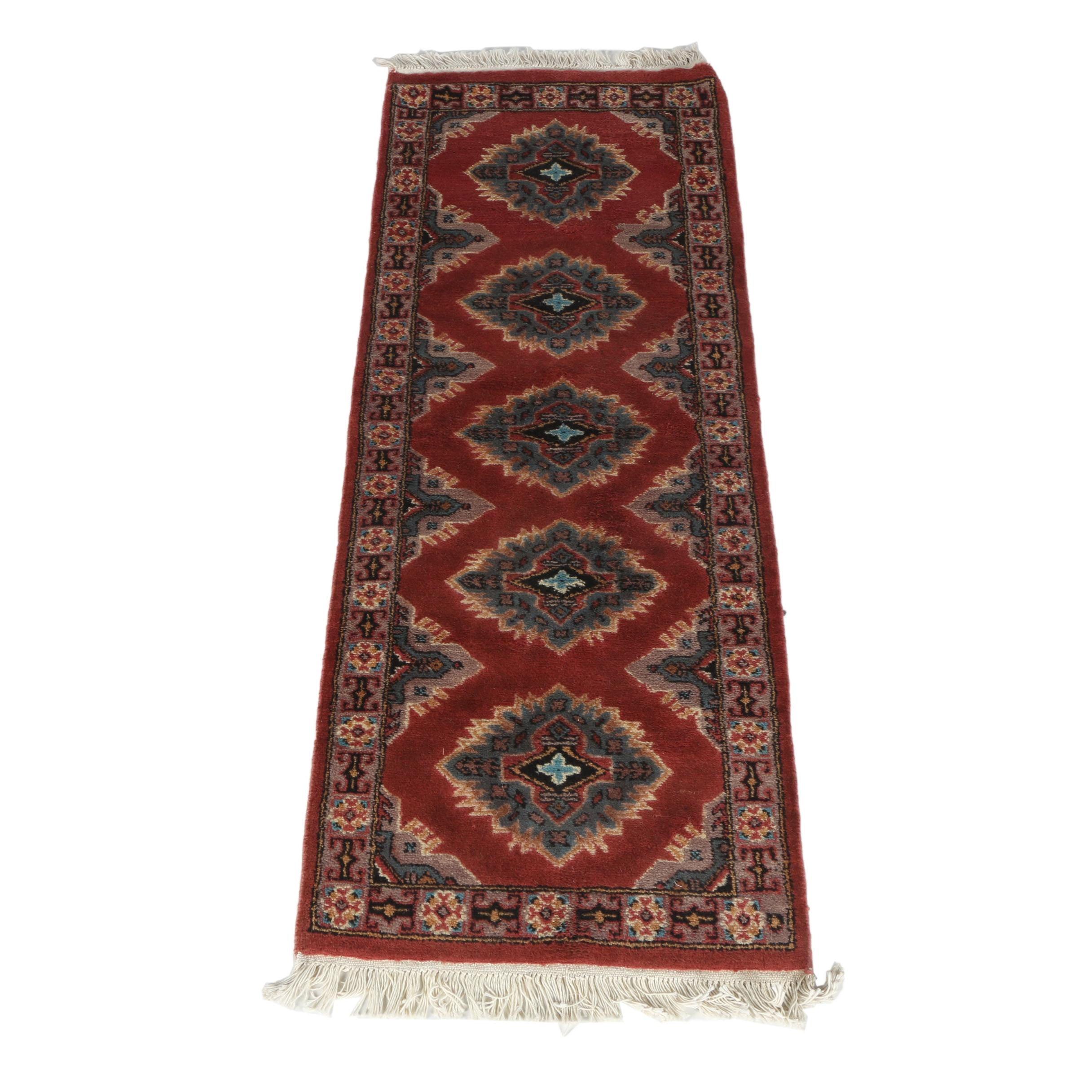 Hand-Knotted Pakistani Kazak Carpet Runner