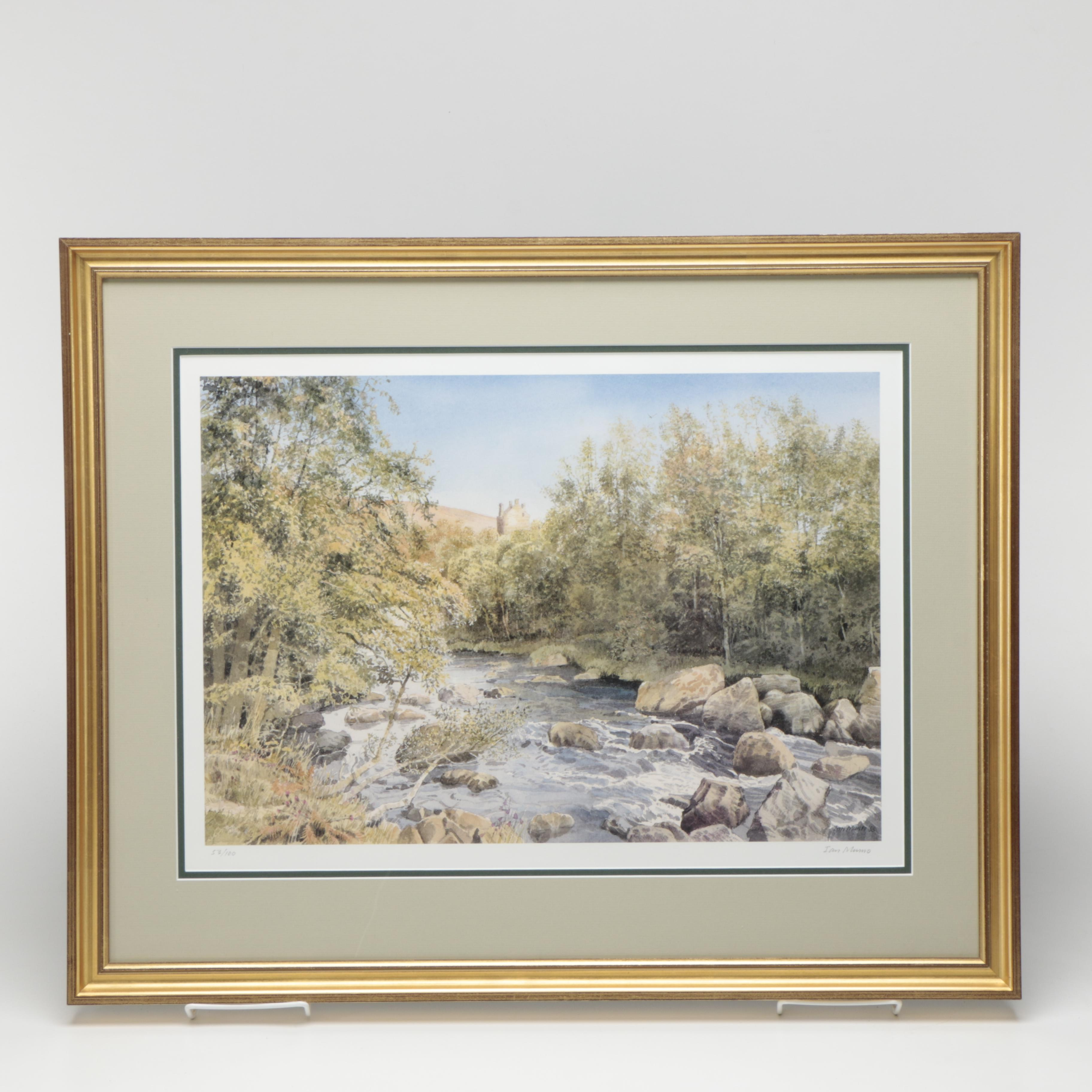 Ian Munro Limited Edition Offset Lithograph Landscape