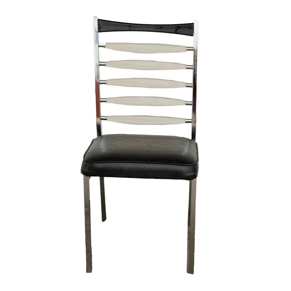 Mid Century Modern Chair with Acrylic Rails