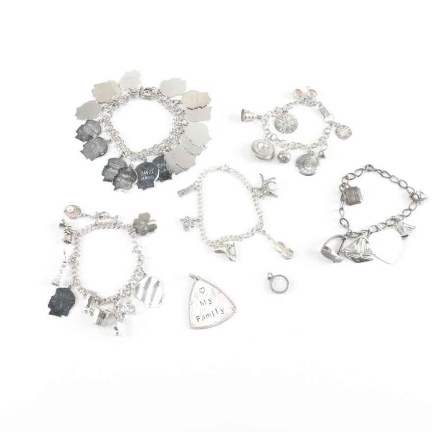 Sterling charm bracelets and pendants including brighton treasures aloadofball Gallery