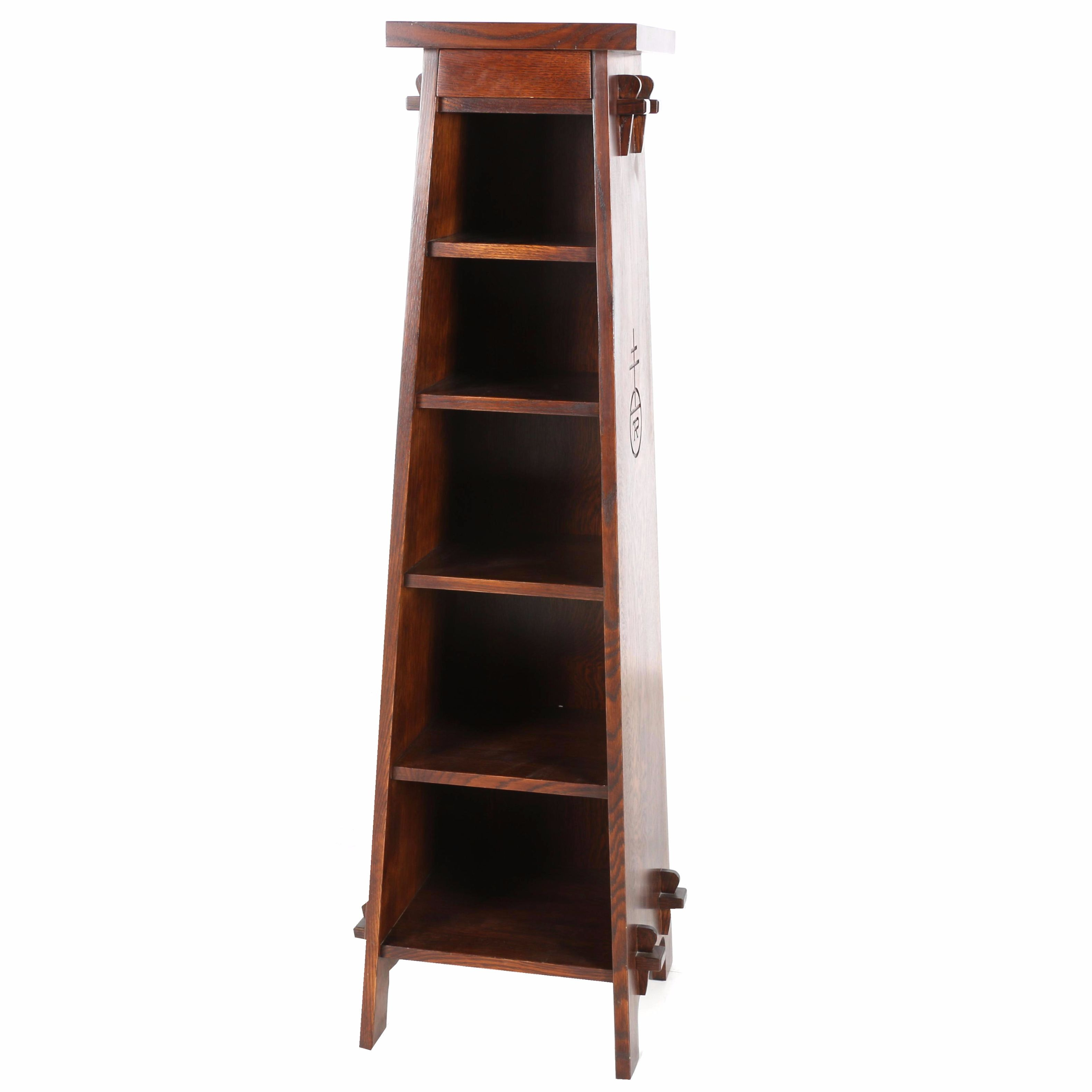 Arts and Crafts Style Oak Shelving Unit by Roycroft