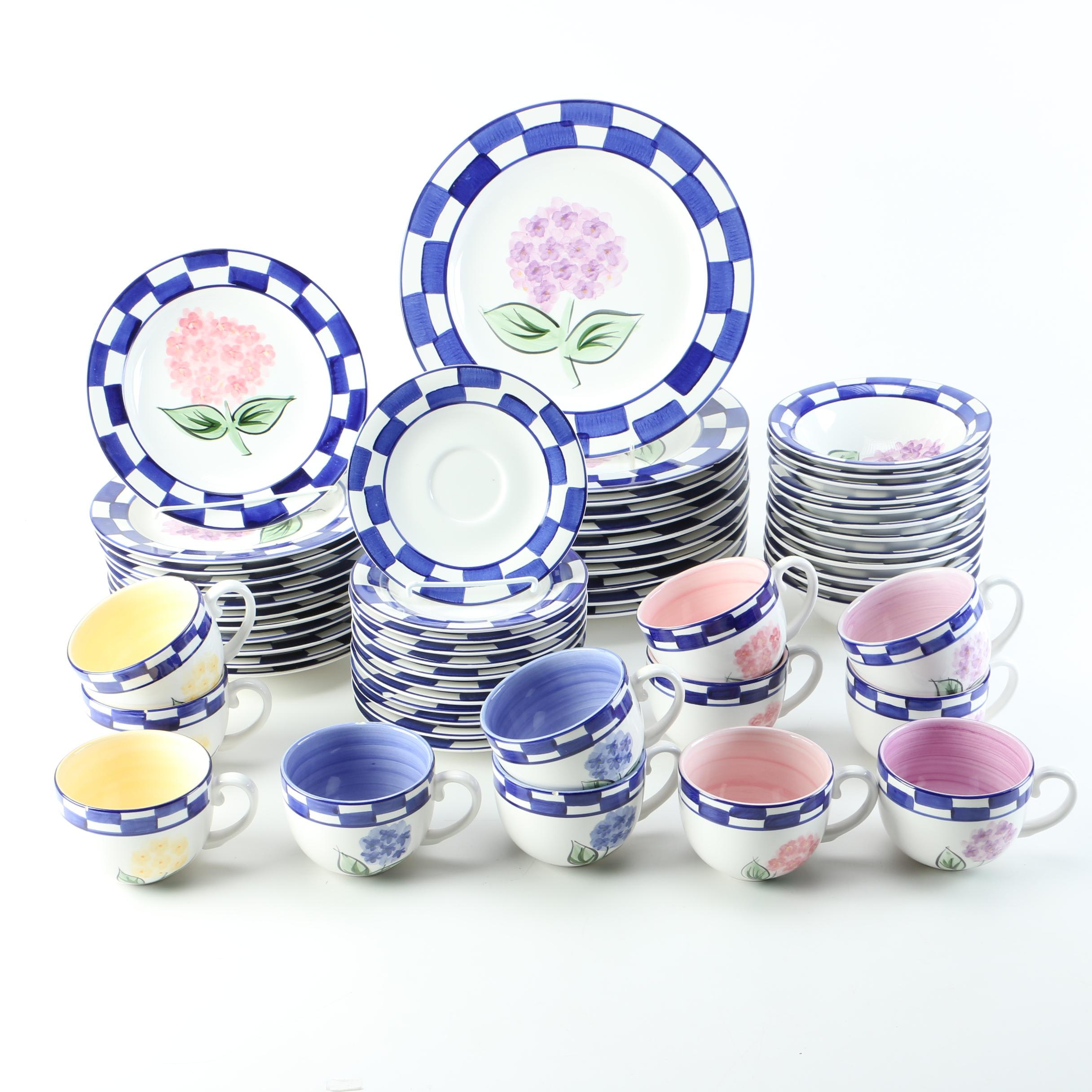Tabletops Unlimited \ Hydrangea Bouquet\  Floral Dinnerware ...  sc 1 st  EBTH.com & Tabletops Unlimited \