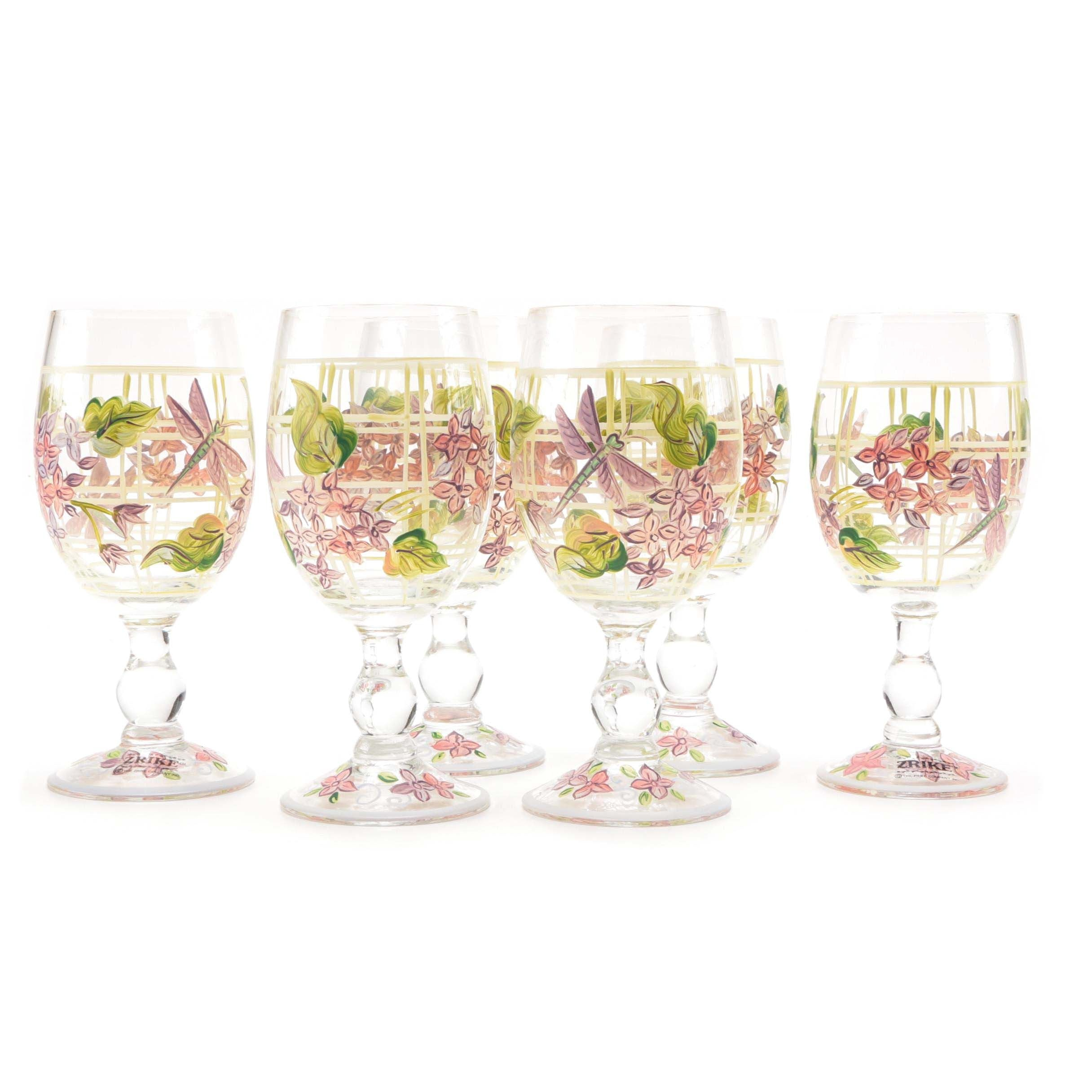 Zrike Painted Goblets