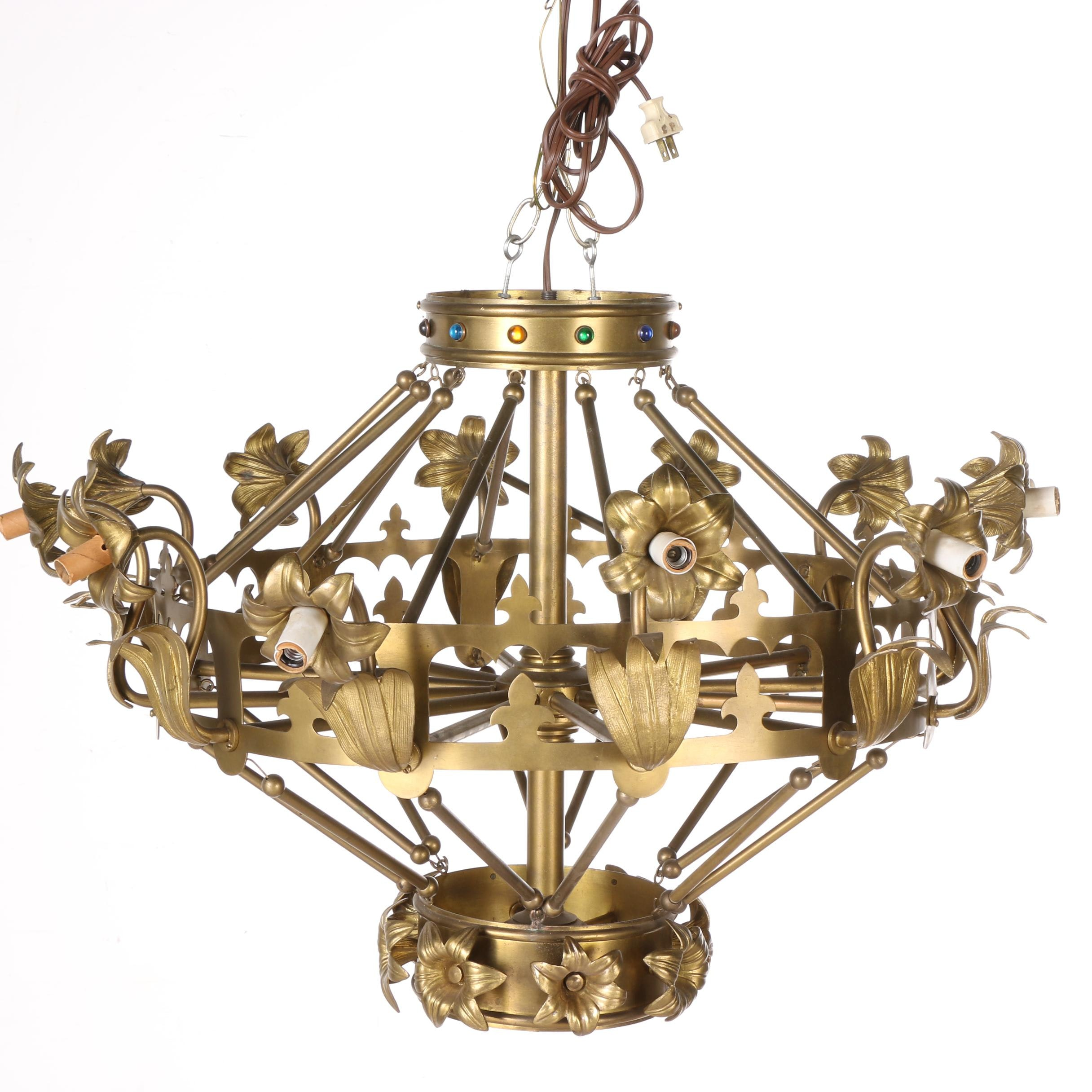 French Style Brass Chandelier