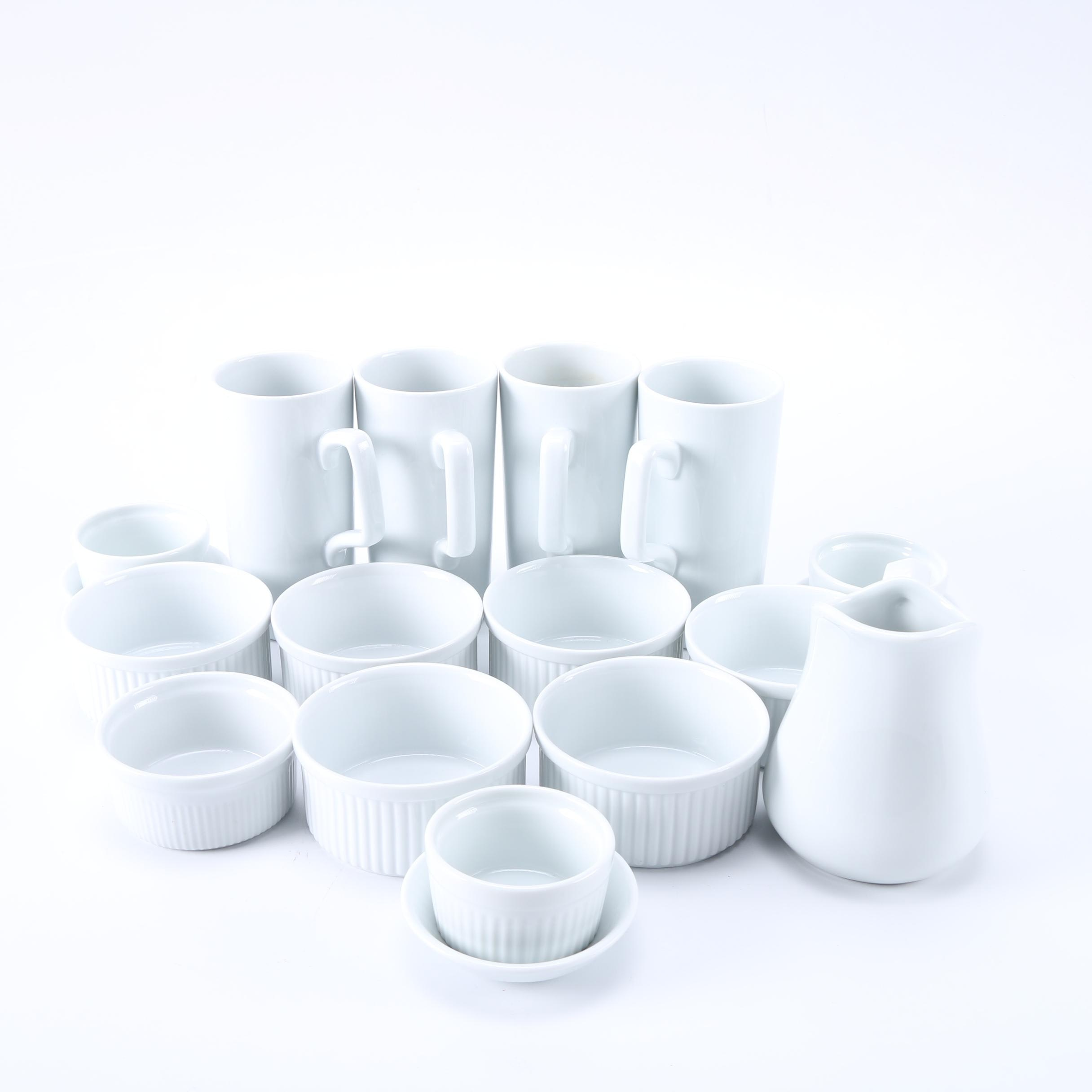 White Ceramic Table and Cookware Including Dansk and Williams-Sonoma