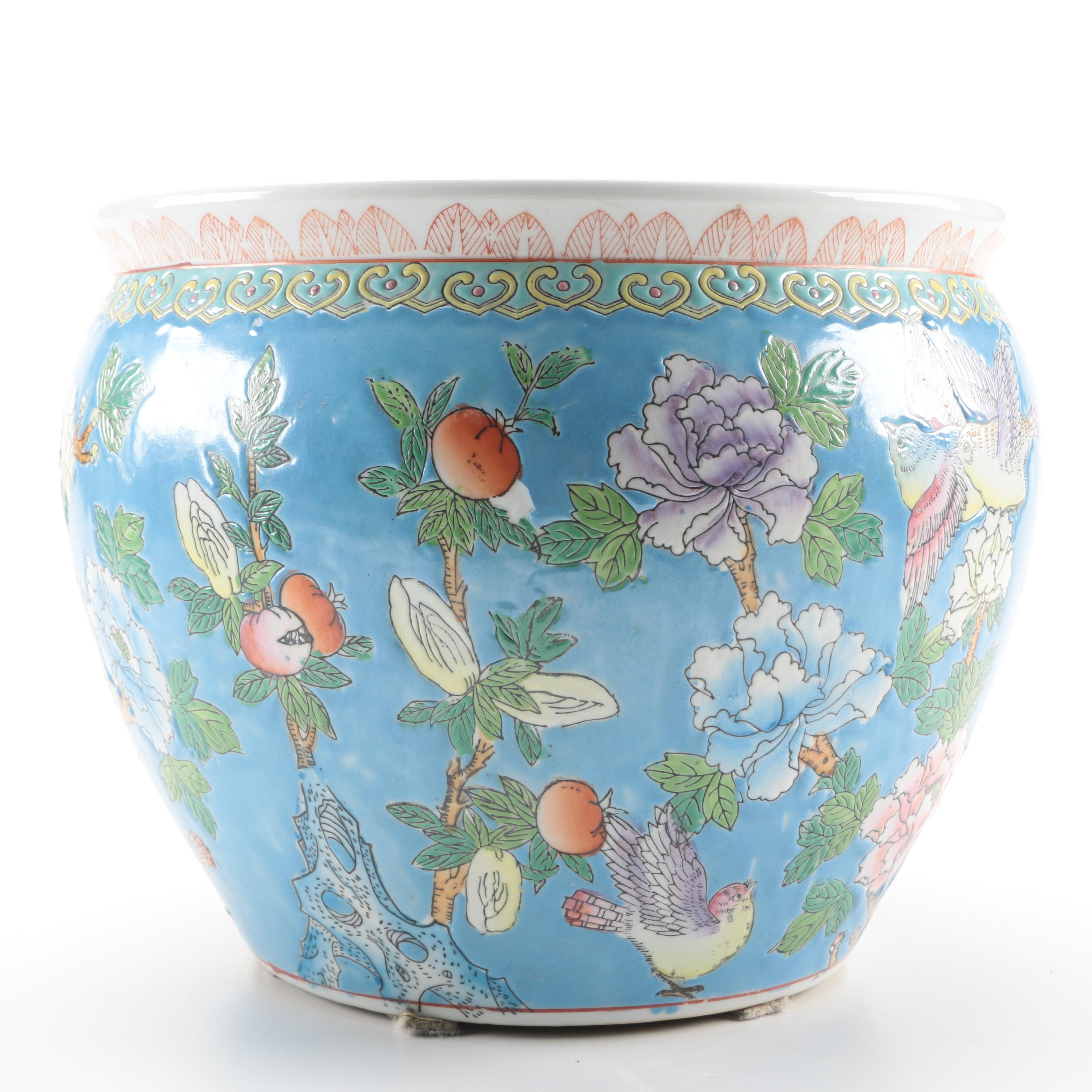 Chinese Floral Planter
