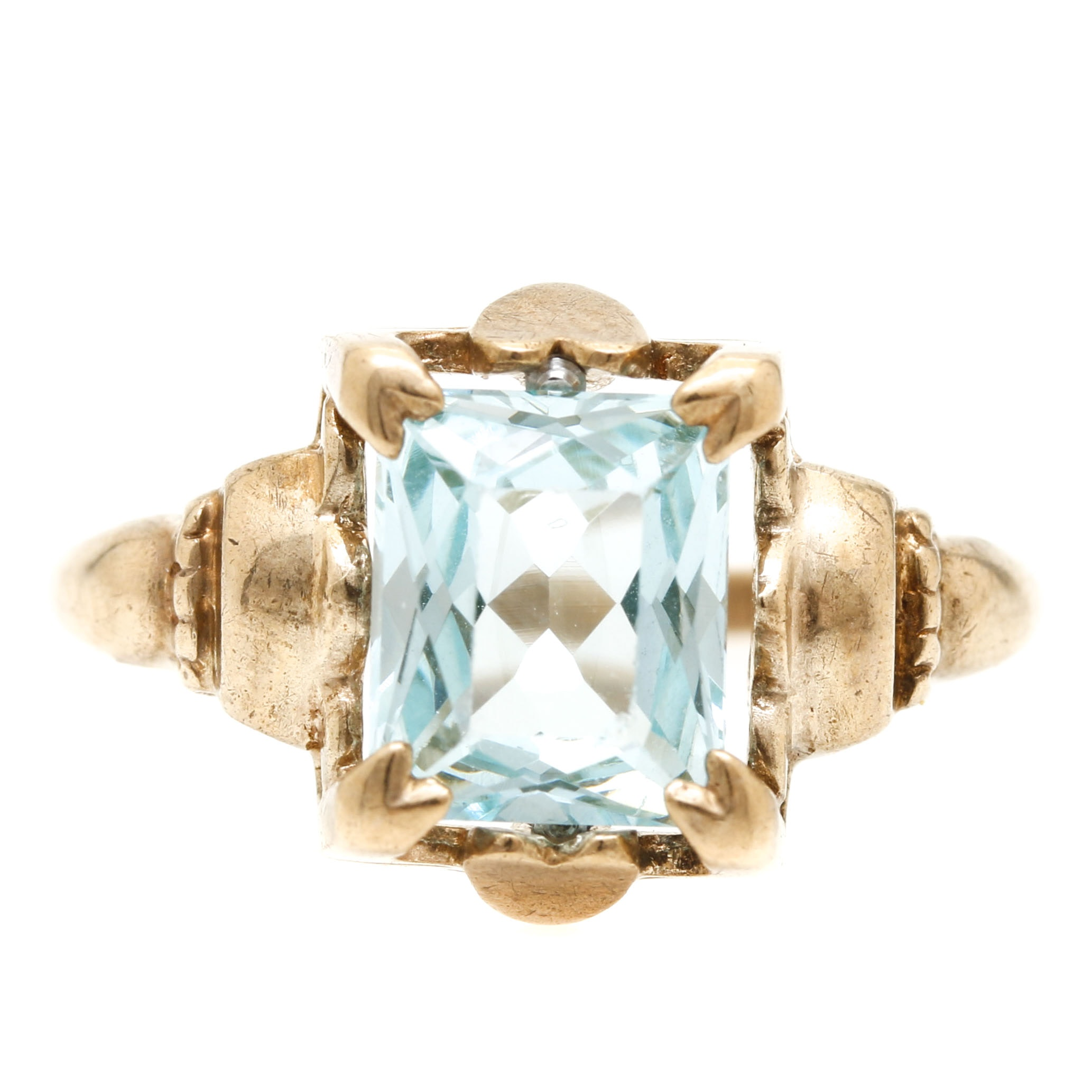 10K Yellow Gold Spinel Ring
