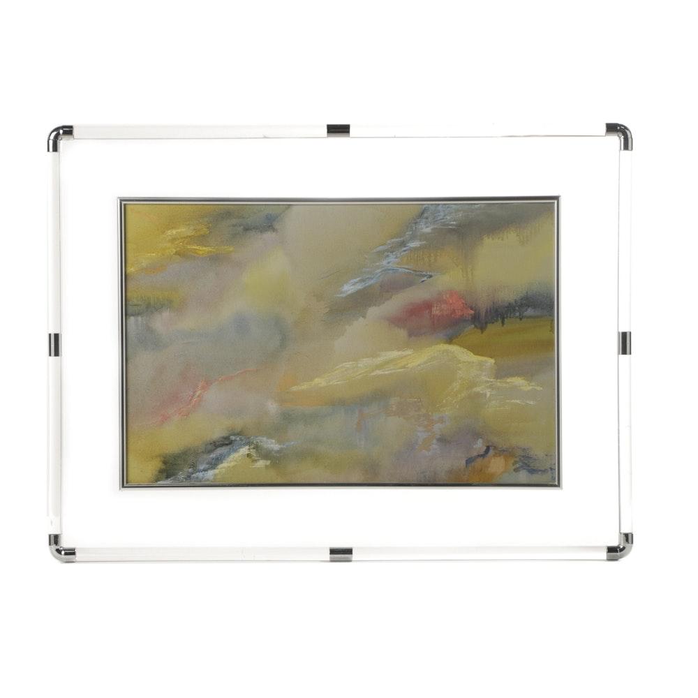 "Christine E. Alfery Oil Painting on Canvas ""Upwards"""