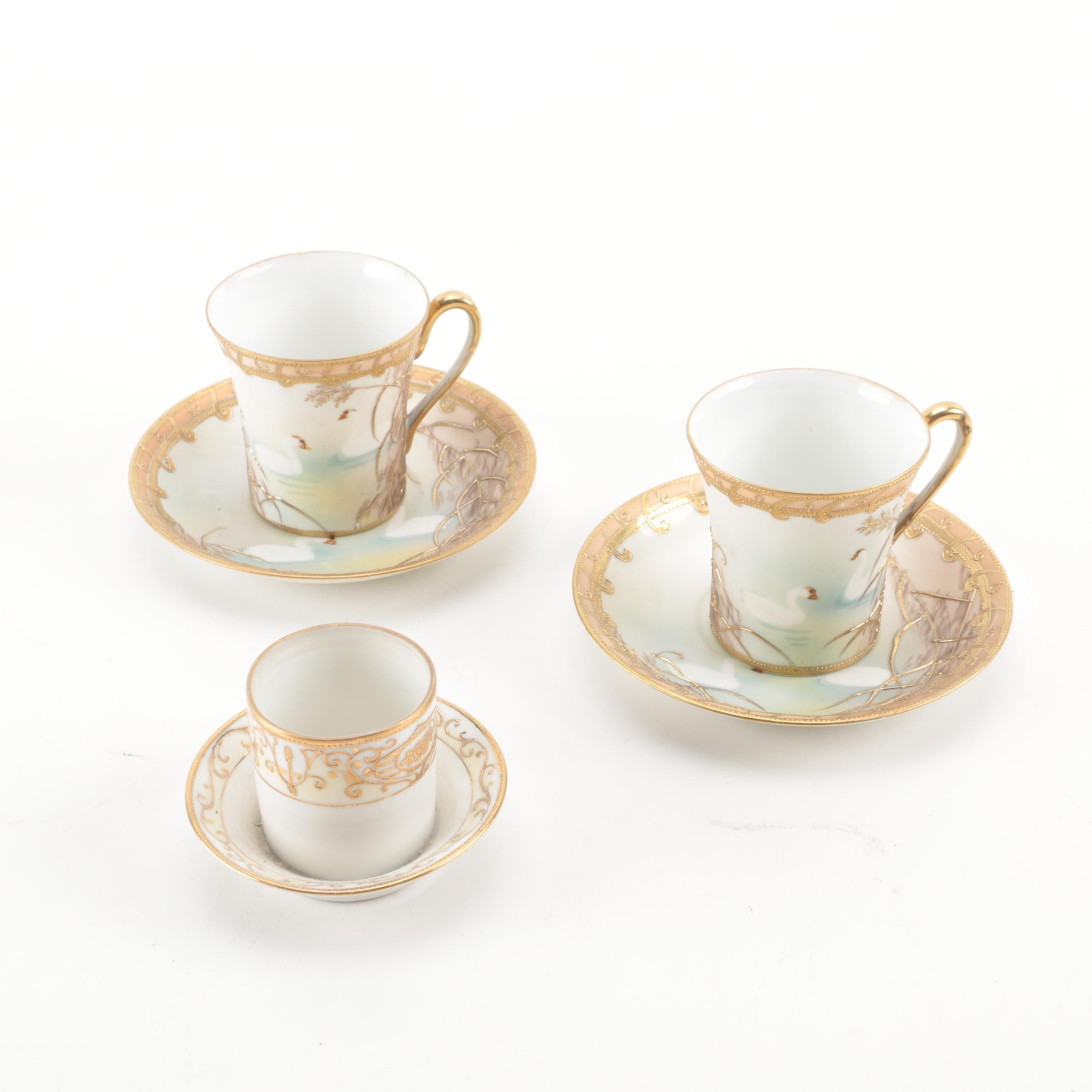 Nippon Tea Cup Set with Candle Holder