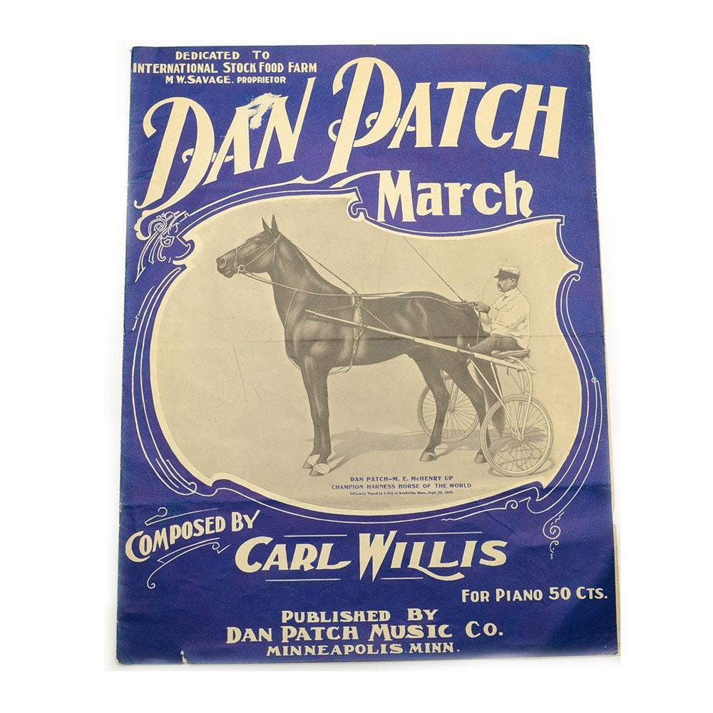 "Early 1900s ""Dan Patch March"" Sheet Music"