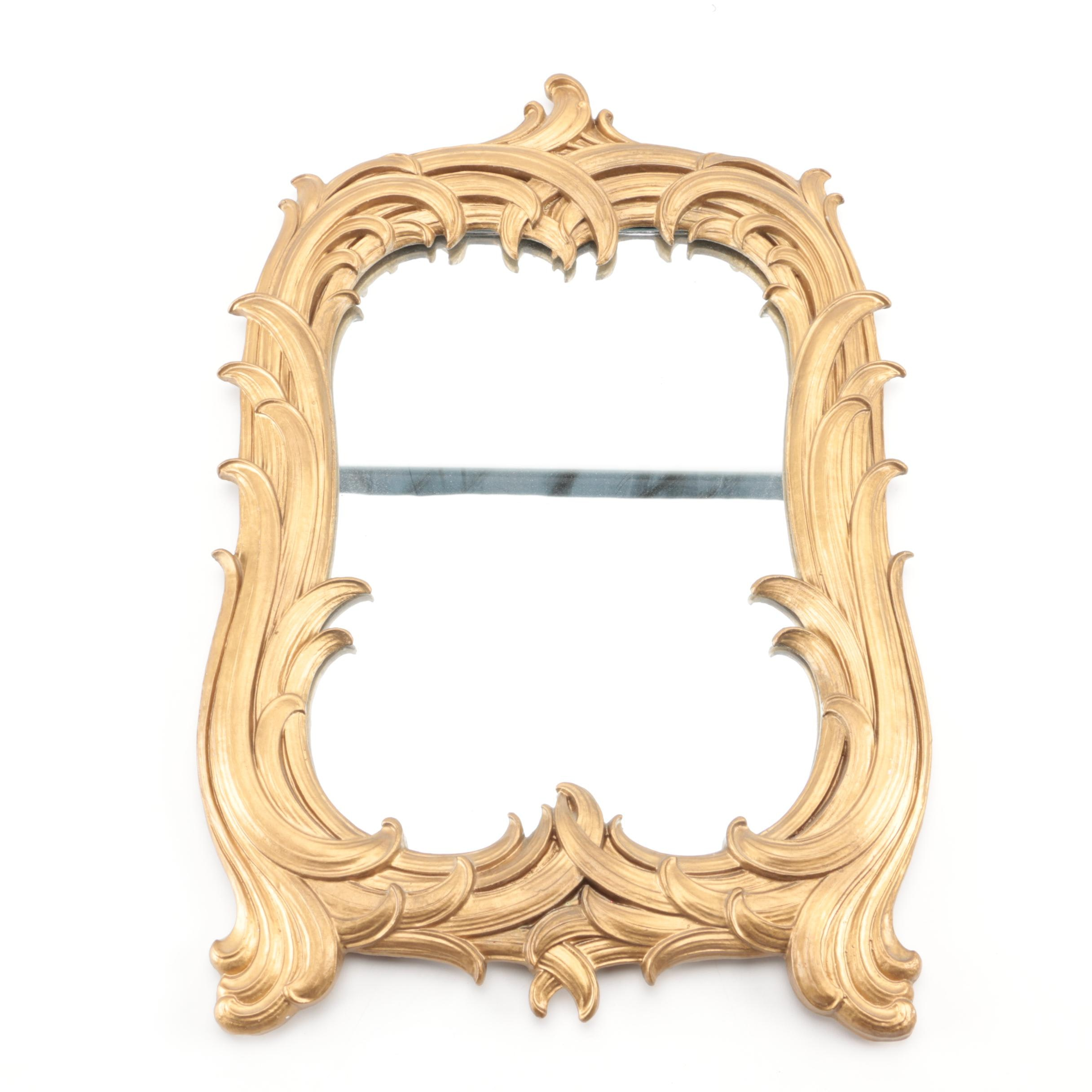 Gold Painted Syroco Decorative Mirror
